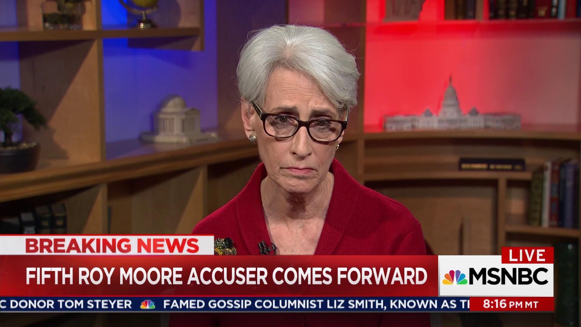 Wendy Sherman: Roy Moore 'does not belong...
