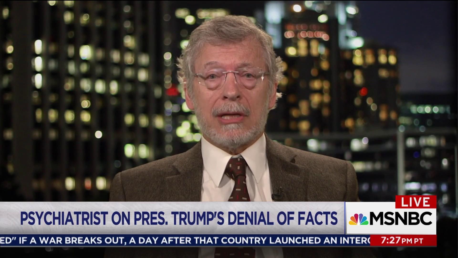 Psychiatrist: Trump's mental state an 'enormous present danger'