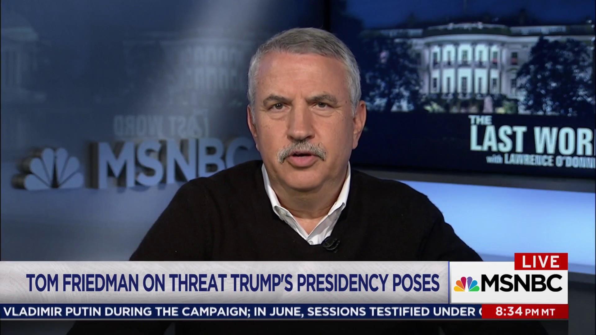 Thomas Friedman: 'Trump is a chump'