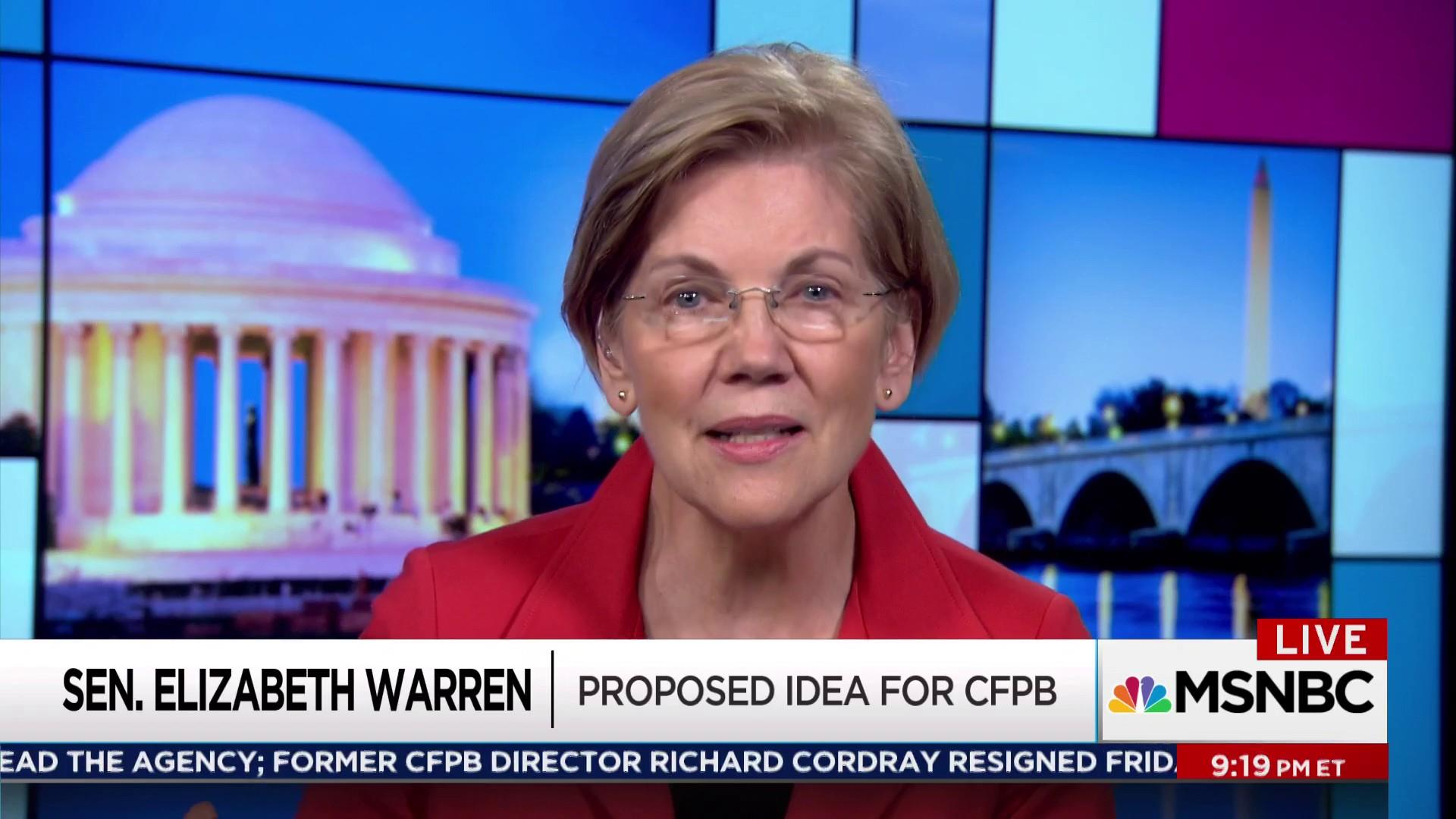 Warren: This is Trump bringing his chaos