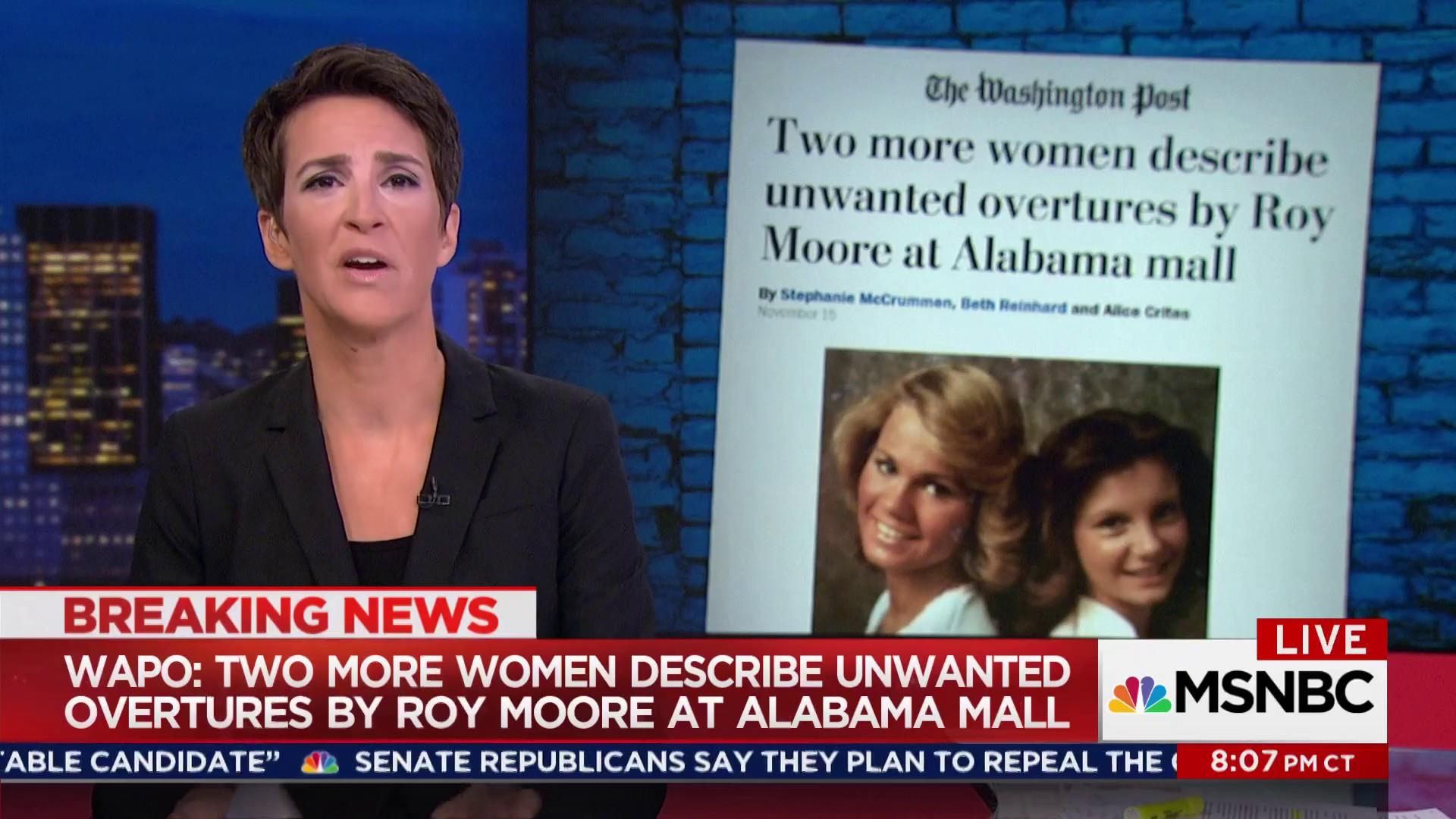 More women report lurid Roy Moore behavior