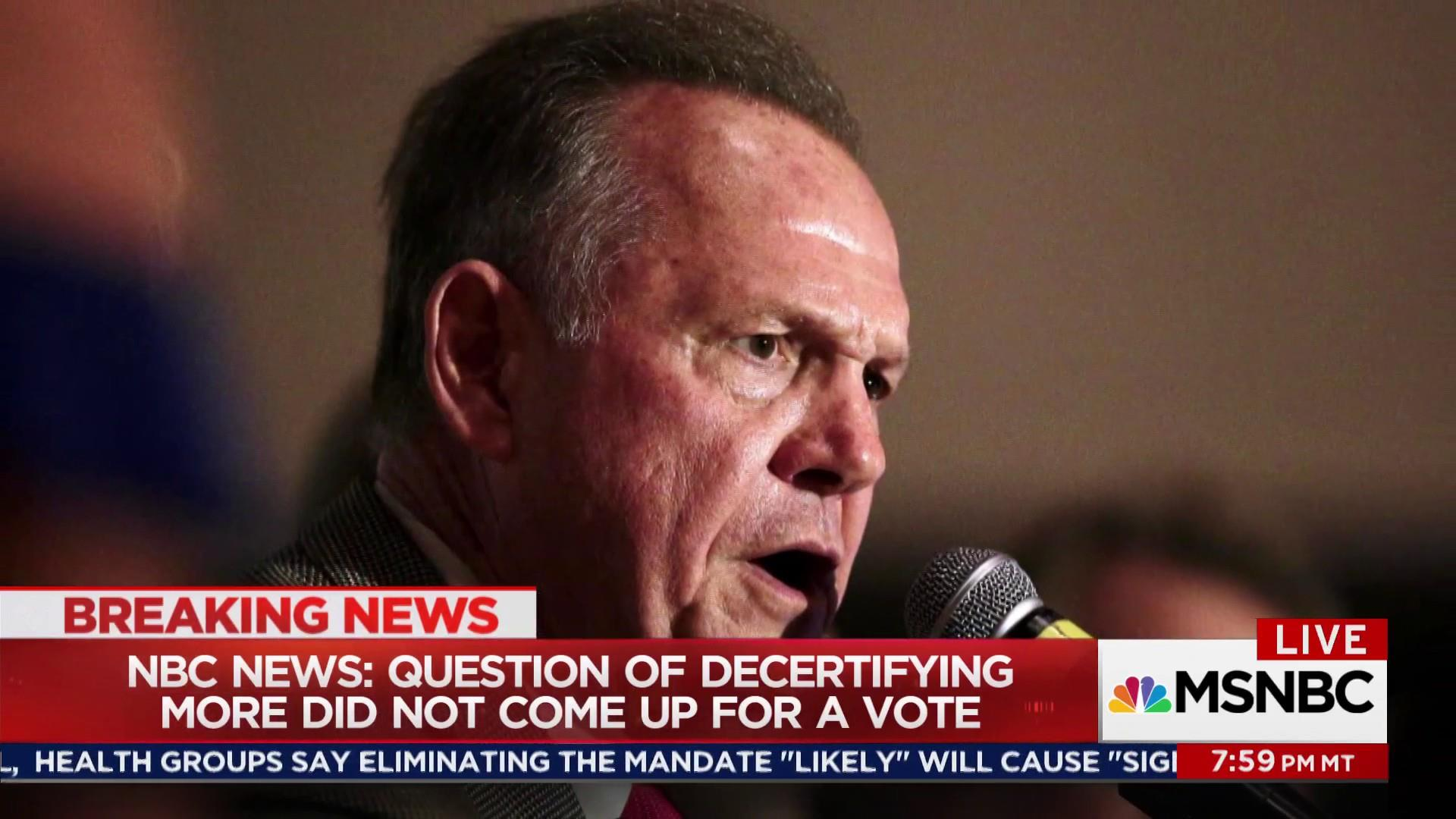 Alabama GOP standing by Roy Moore