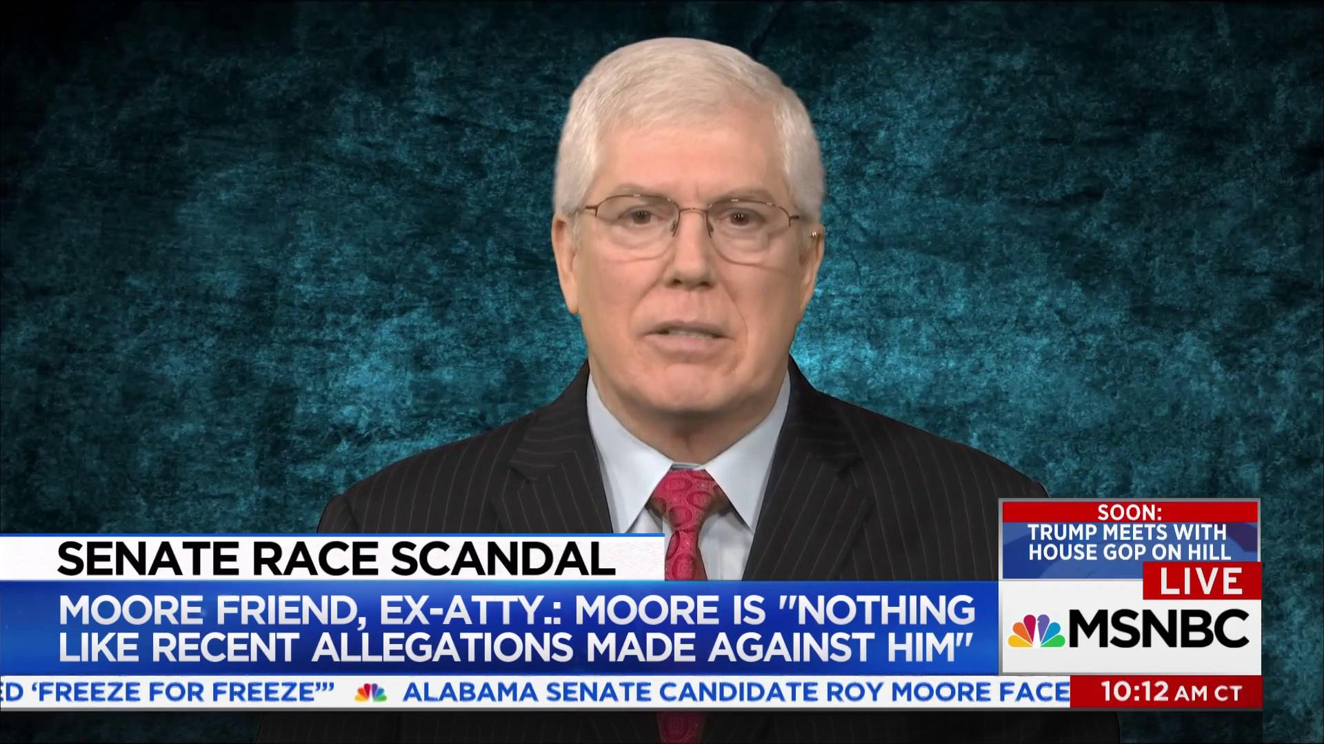 """Roy Moore friend: """"This is not the Moore I..."""