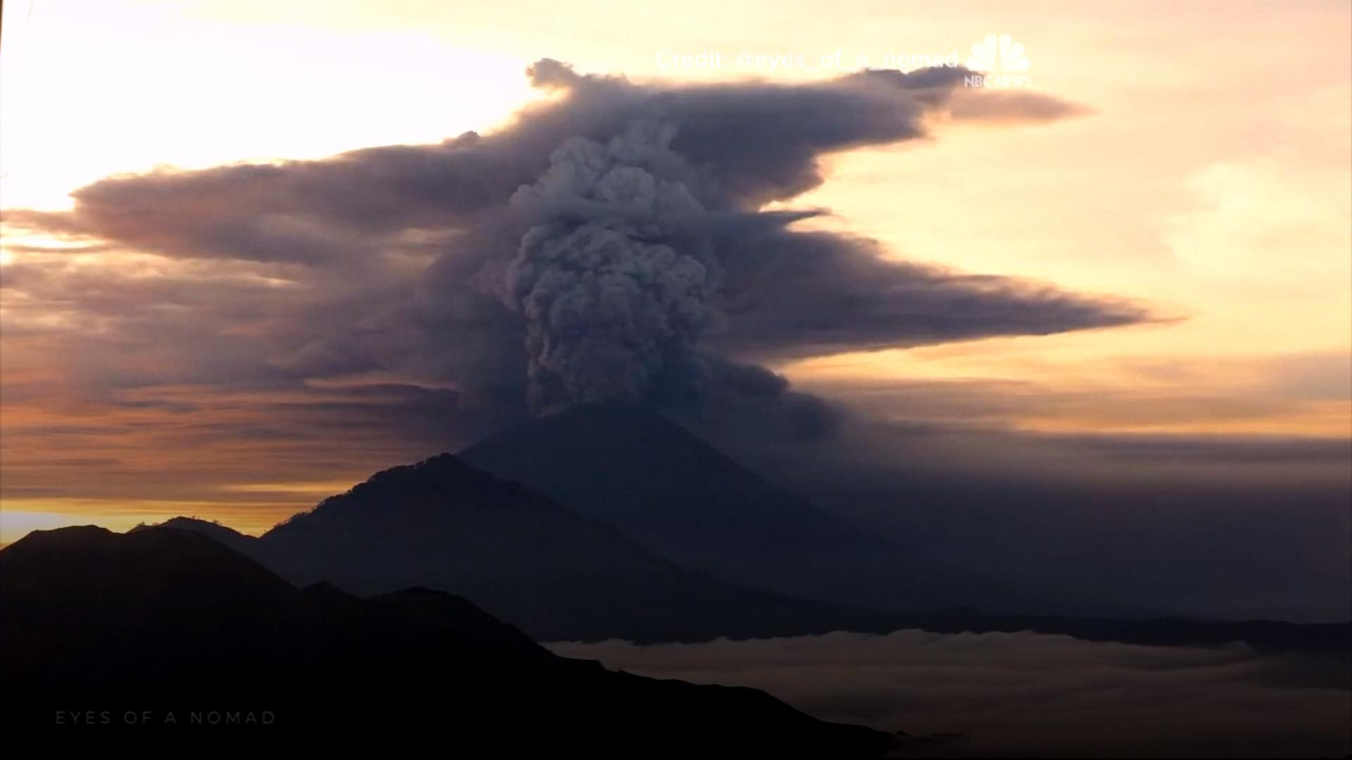 Watch As A Volcano Erupts In Indonesia Nbc News