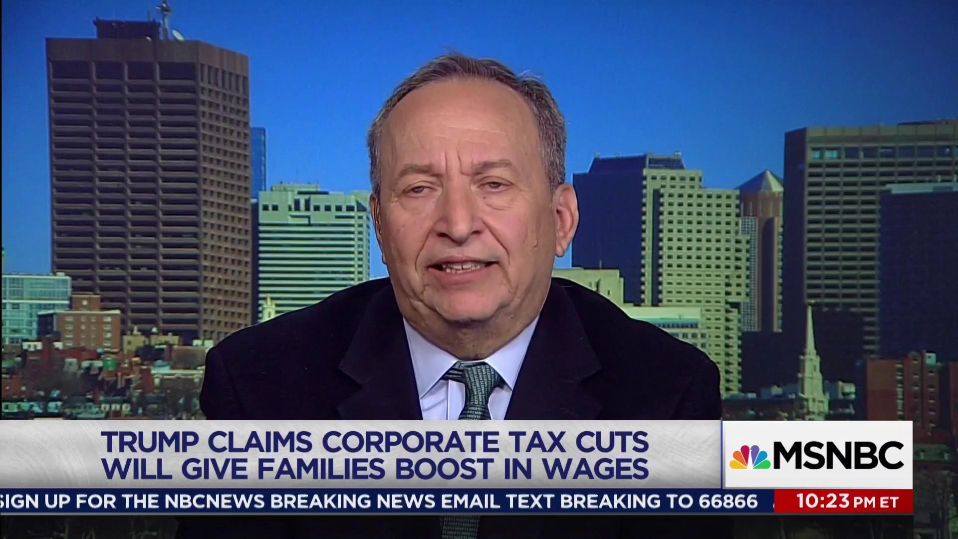 """Lawrence Summers on Trump's """"Nonsense"""" Tax..."""