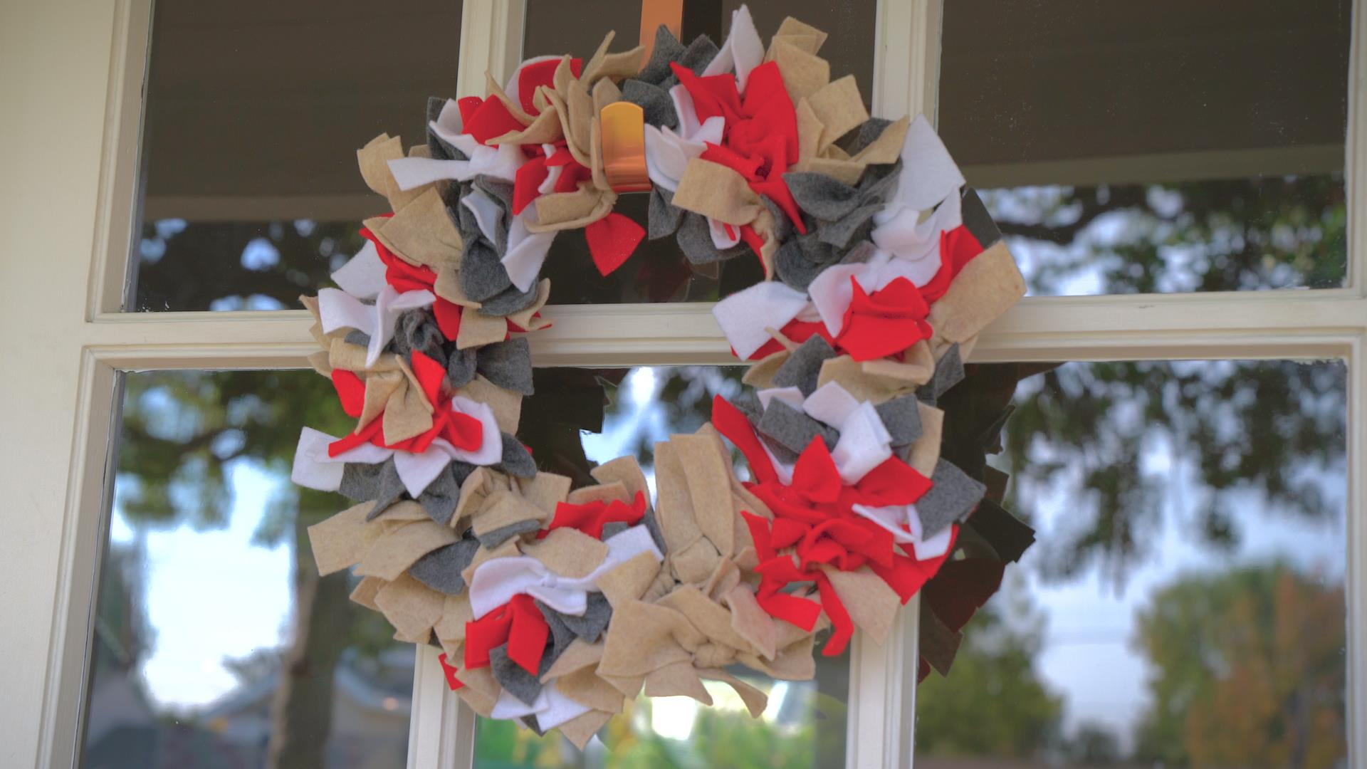 Welcome Everyone For The Holidays With This Adorable Ribbon Wreath
