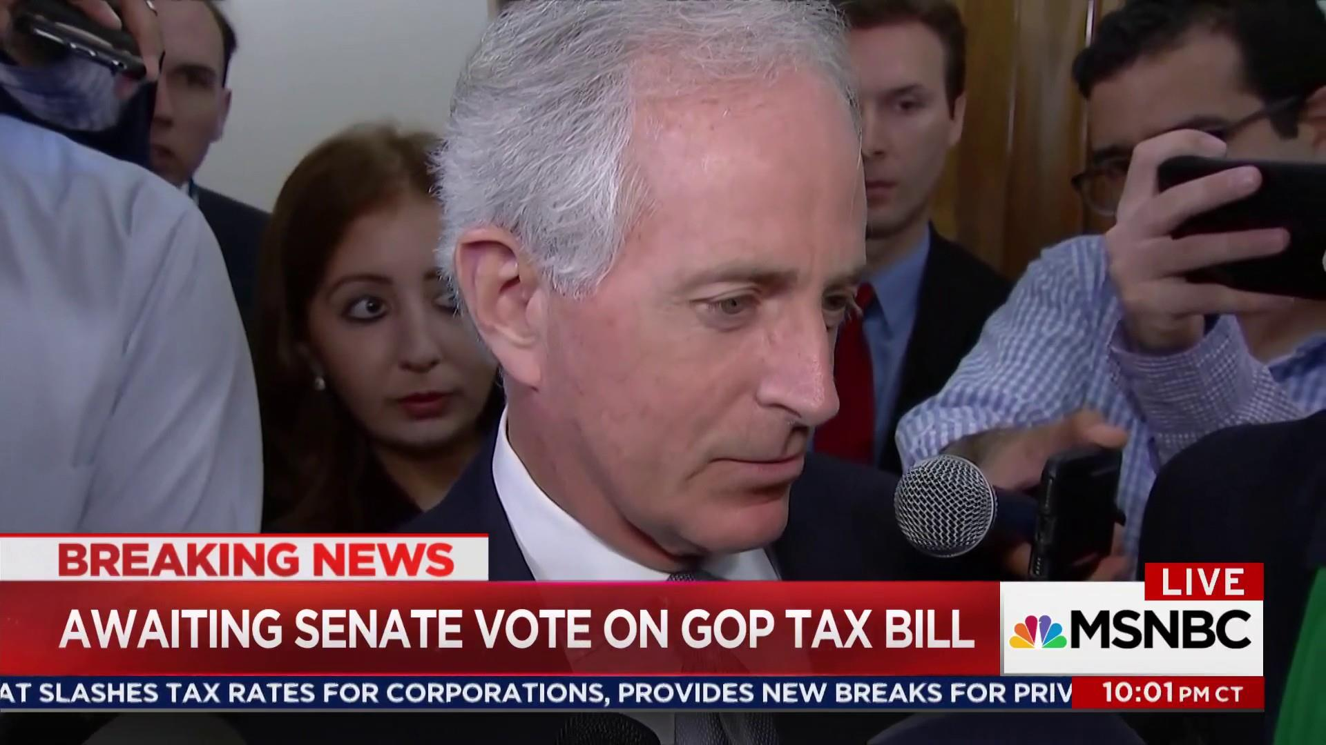 Corker criticized for changing to yes on GOP tax reform