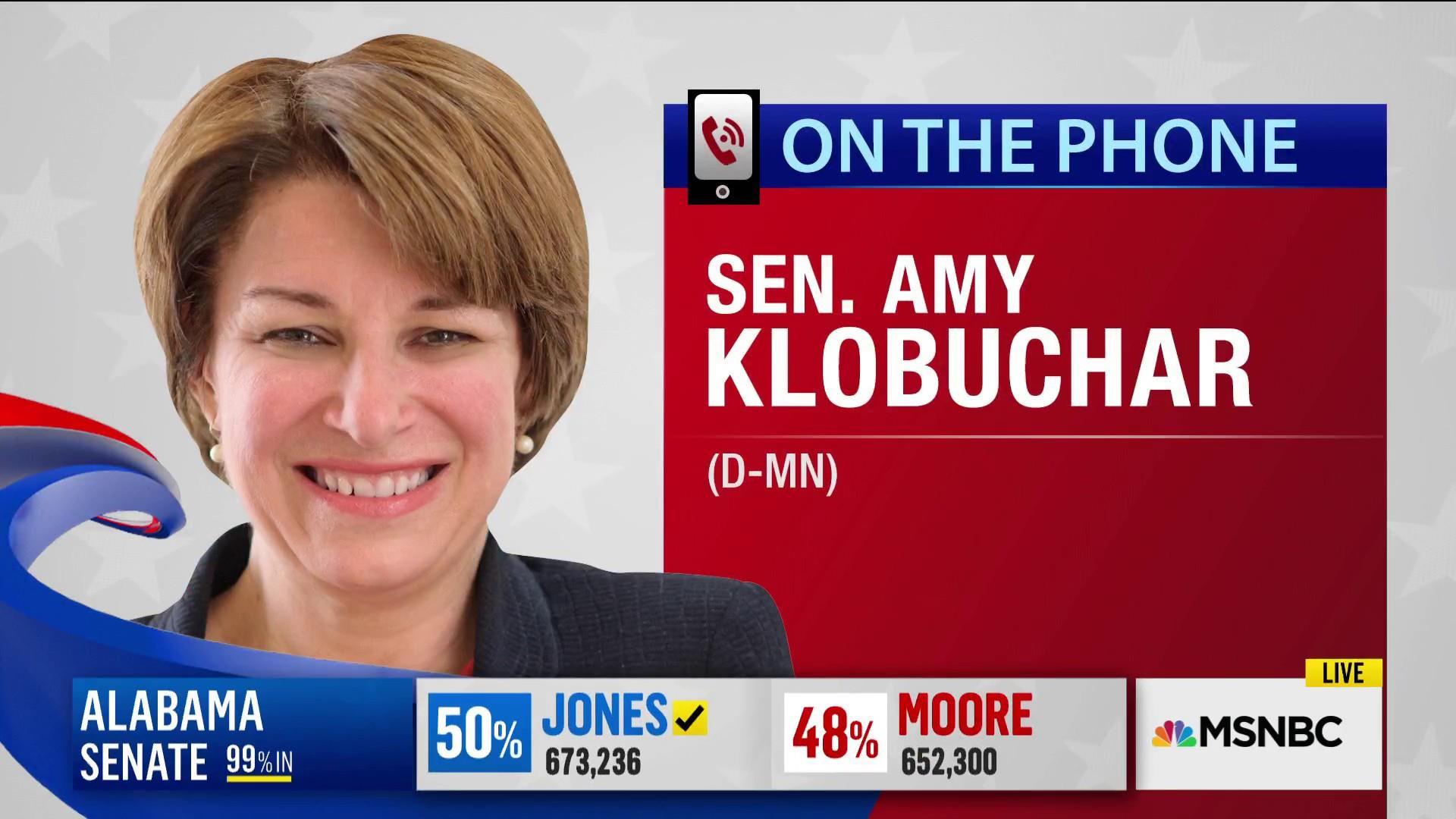 Sen. Amy Klobuchar: 'The people of Alabama have spoken'