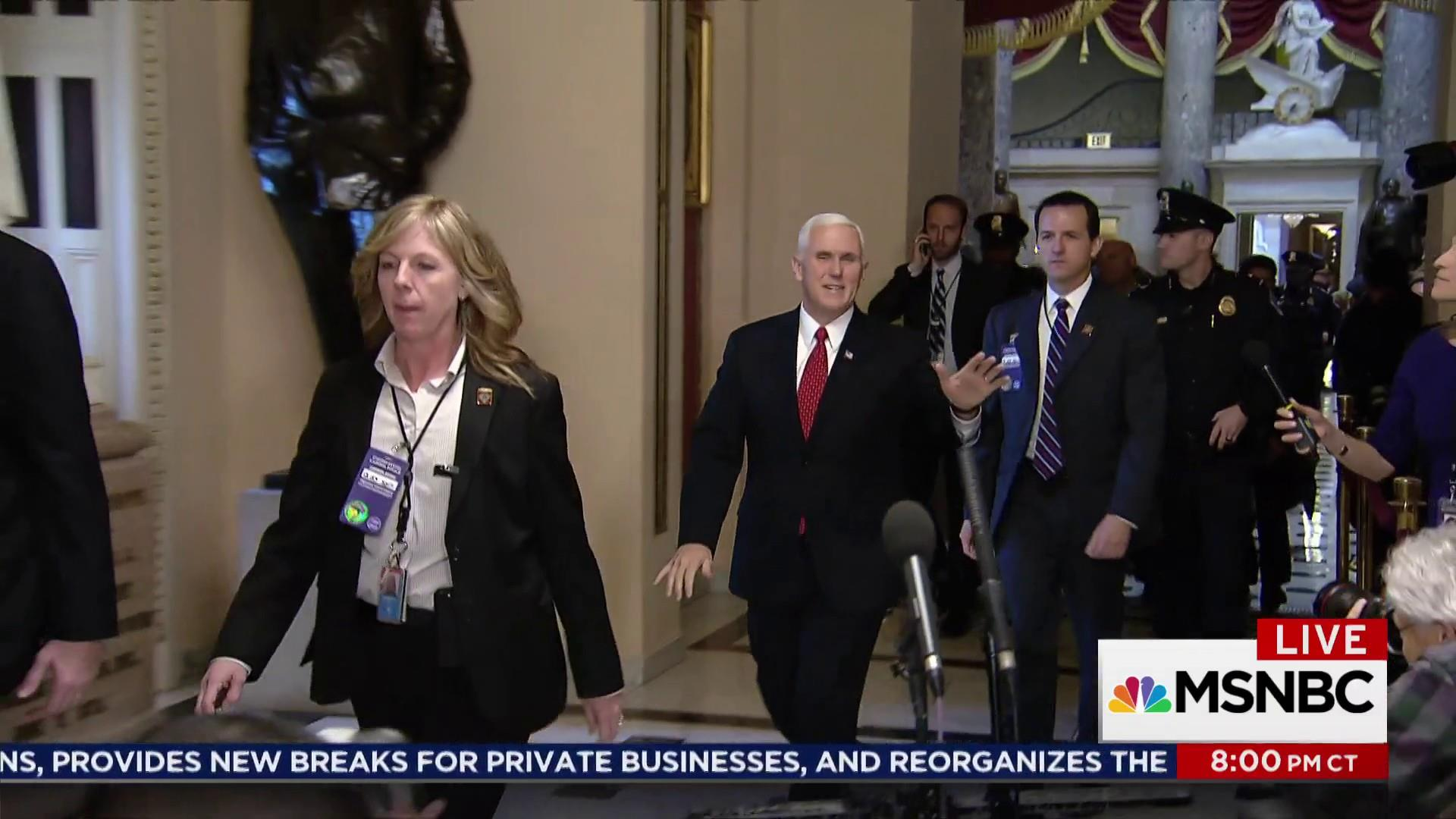 Tax vote a handy excuse for Mike Pence
