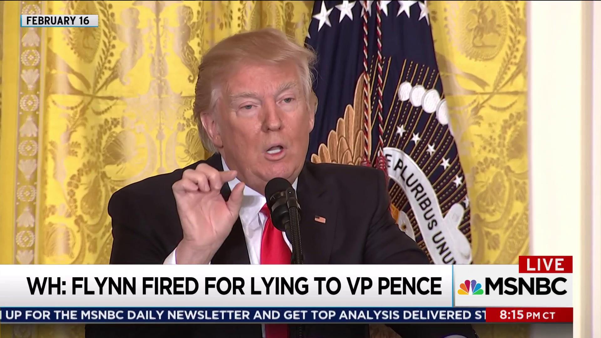 When did Donald Trump know that Flynn lied?