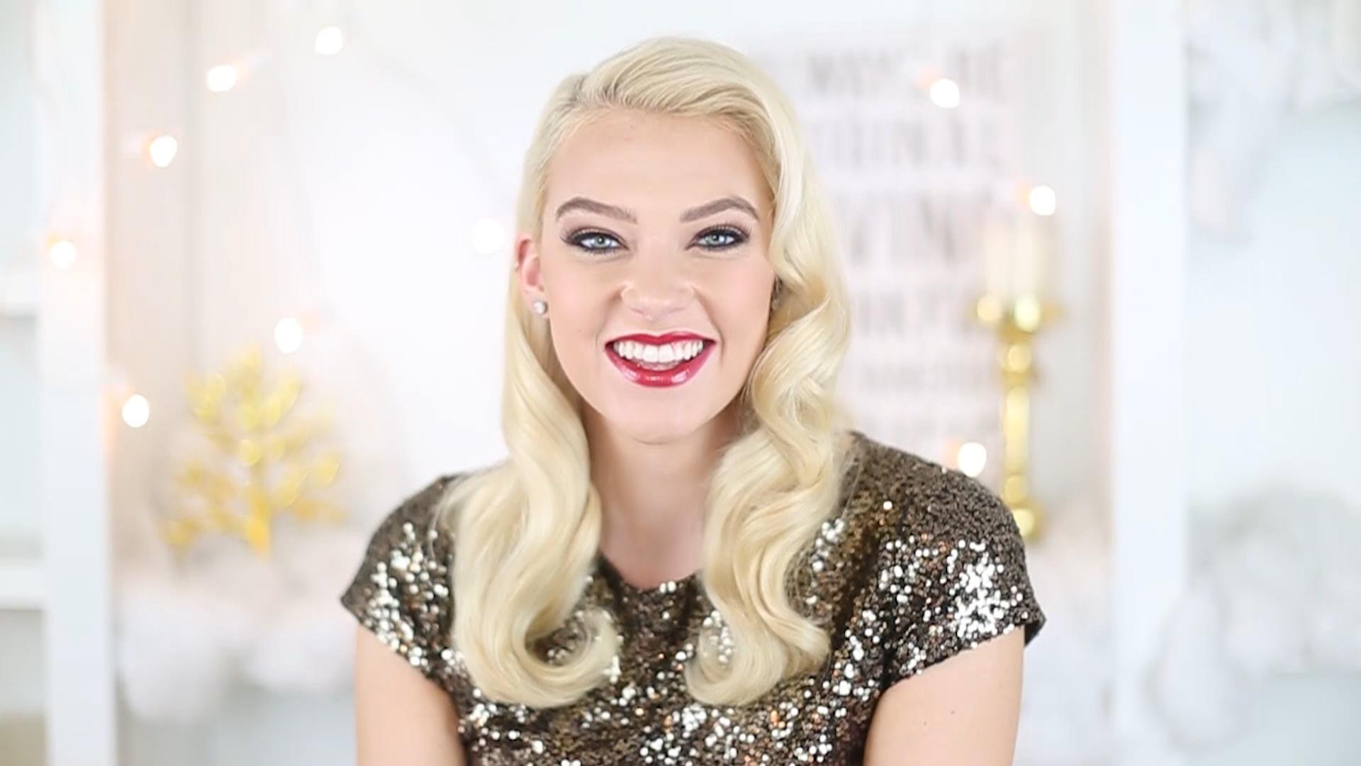 How To Create Glam Holiday Hair