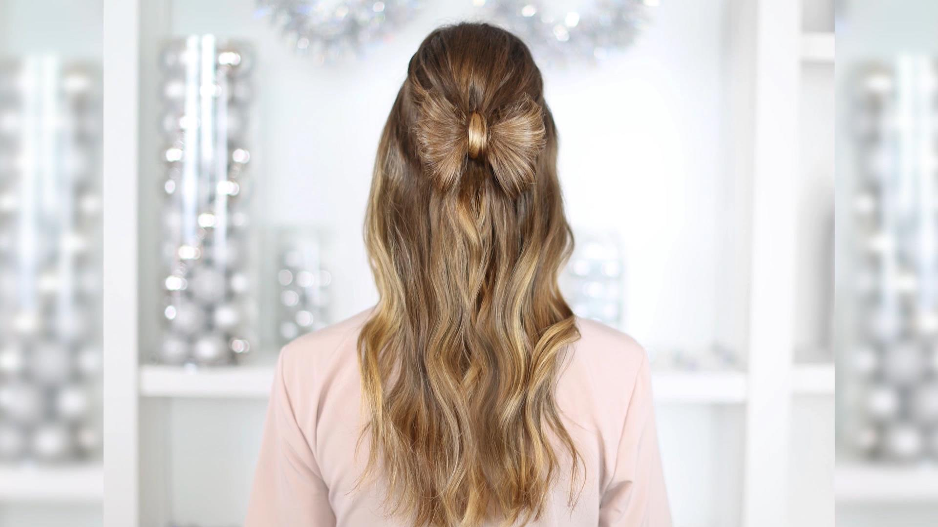 Holiday hairstyle ideas for Christmas or New Year\'s Eve