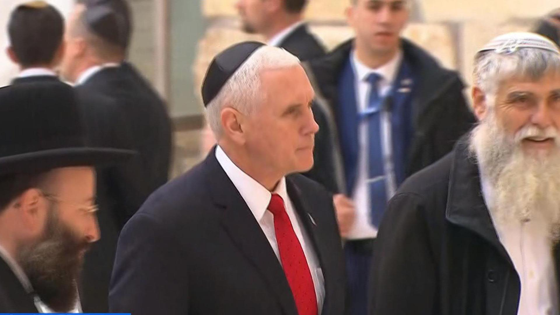 Pence: Trump is committed to peace in Middle East