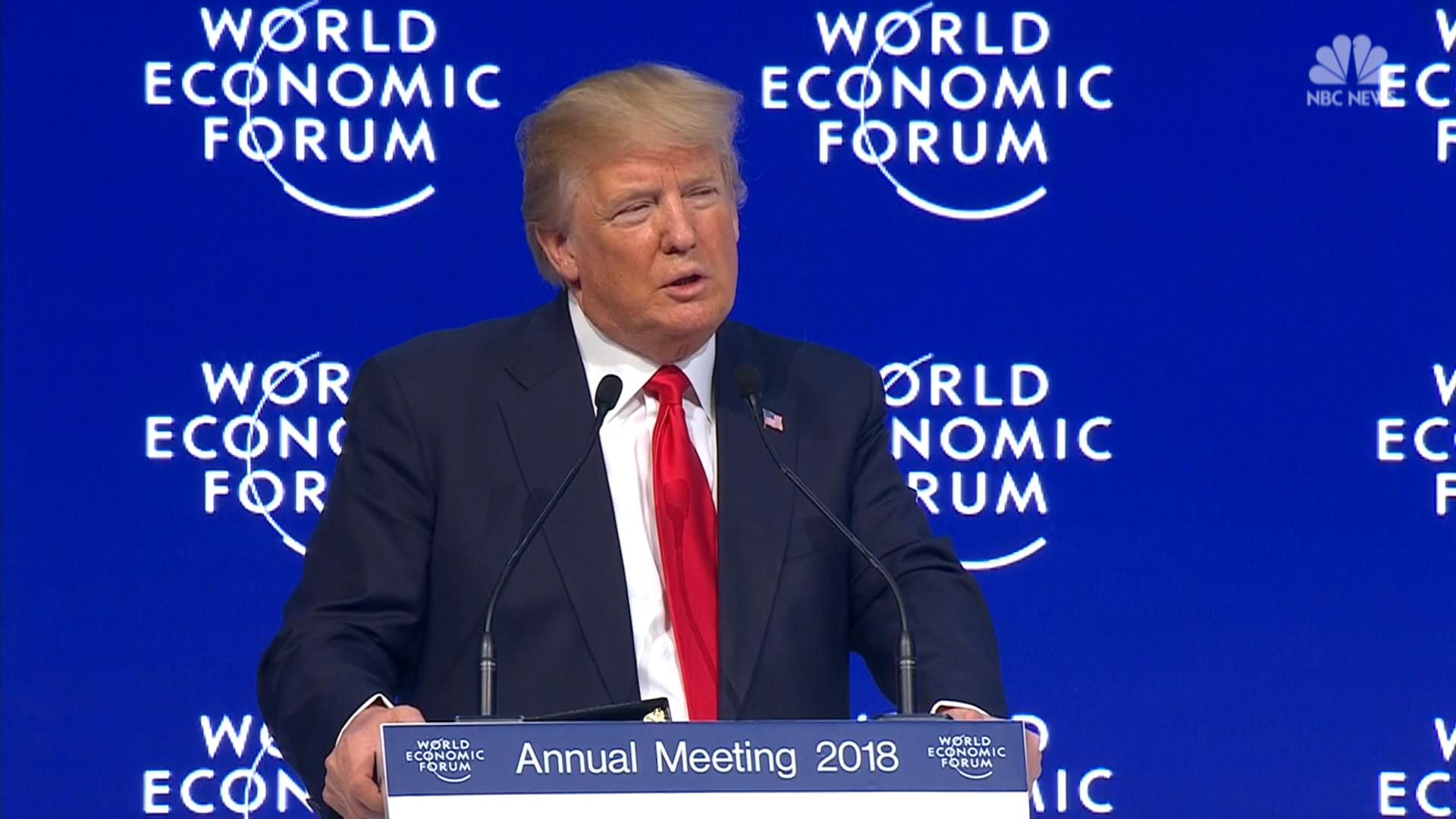 Trump in Davos: 'America is open for business'