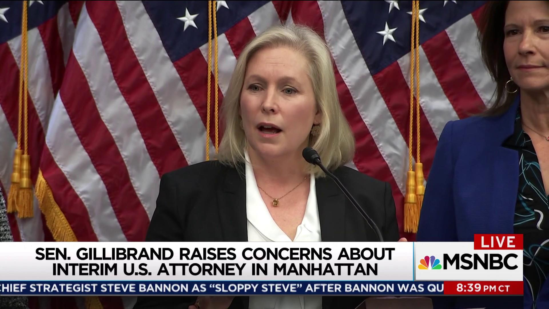 Gillibrand cries foul on interim US attorney