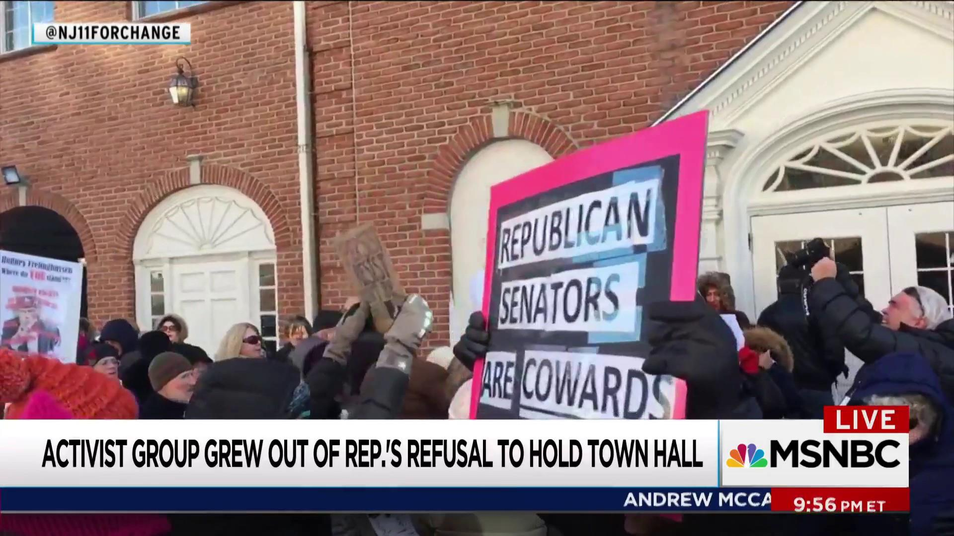 New Jersey protesters see victory in Frelinghuysen retirement
