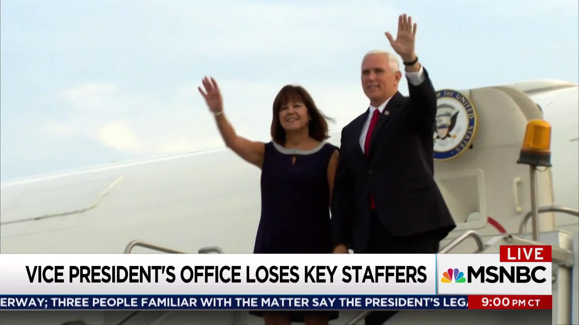 Why is Mike Pence losing his senior staffers?