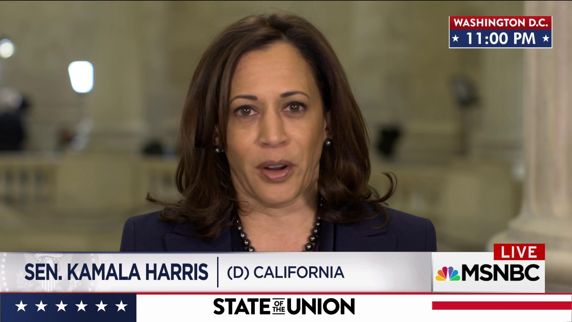 Harris: Trump SOTU fell short on truth