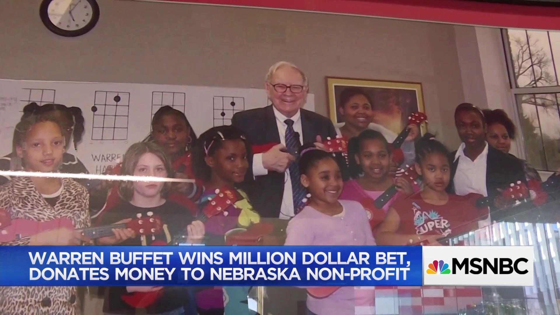 Good news somewhere: Warren Buffet's million dollar donation