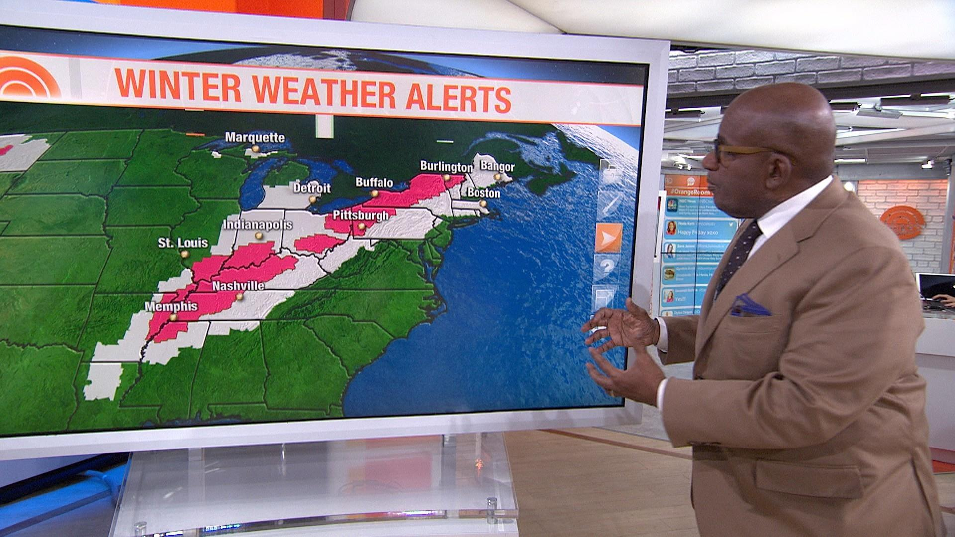 Winter storm to bring snow and ice from Tennessee to New