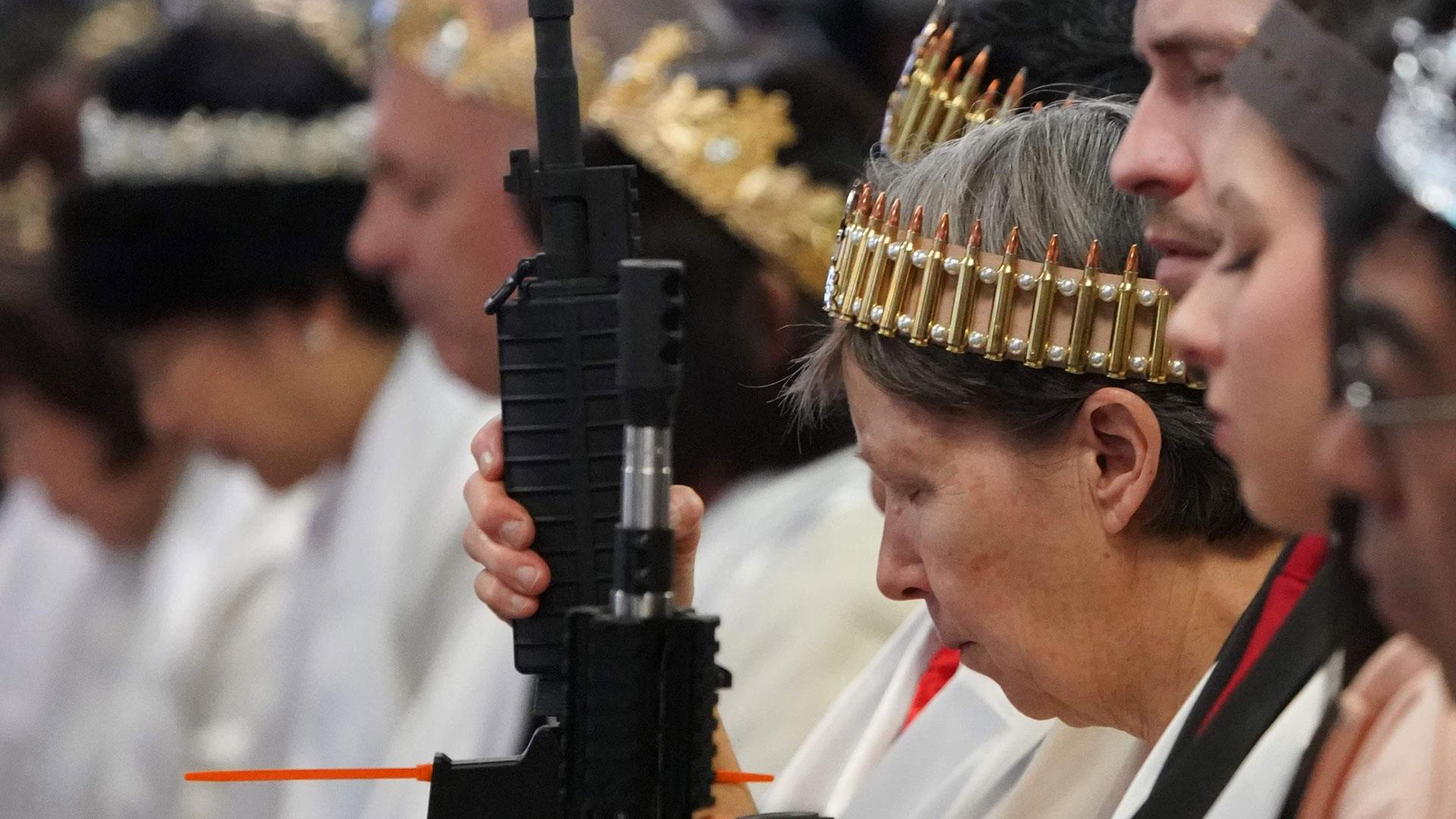 Pennsylvania church blesses AR-15 rifles during commitment ceremony