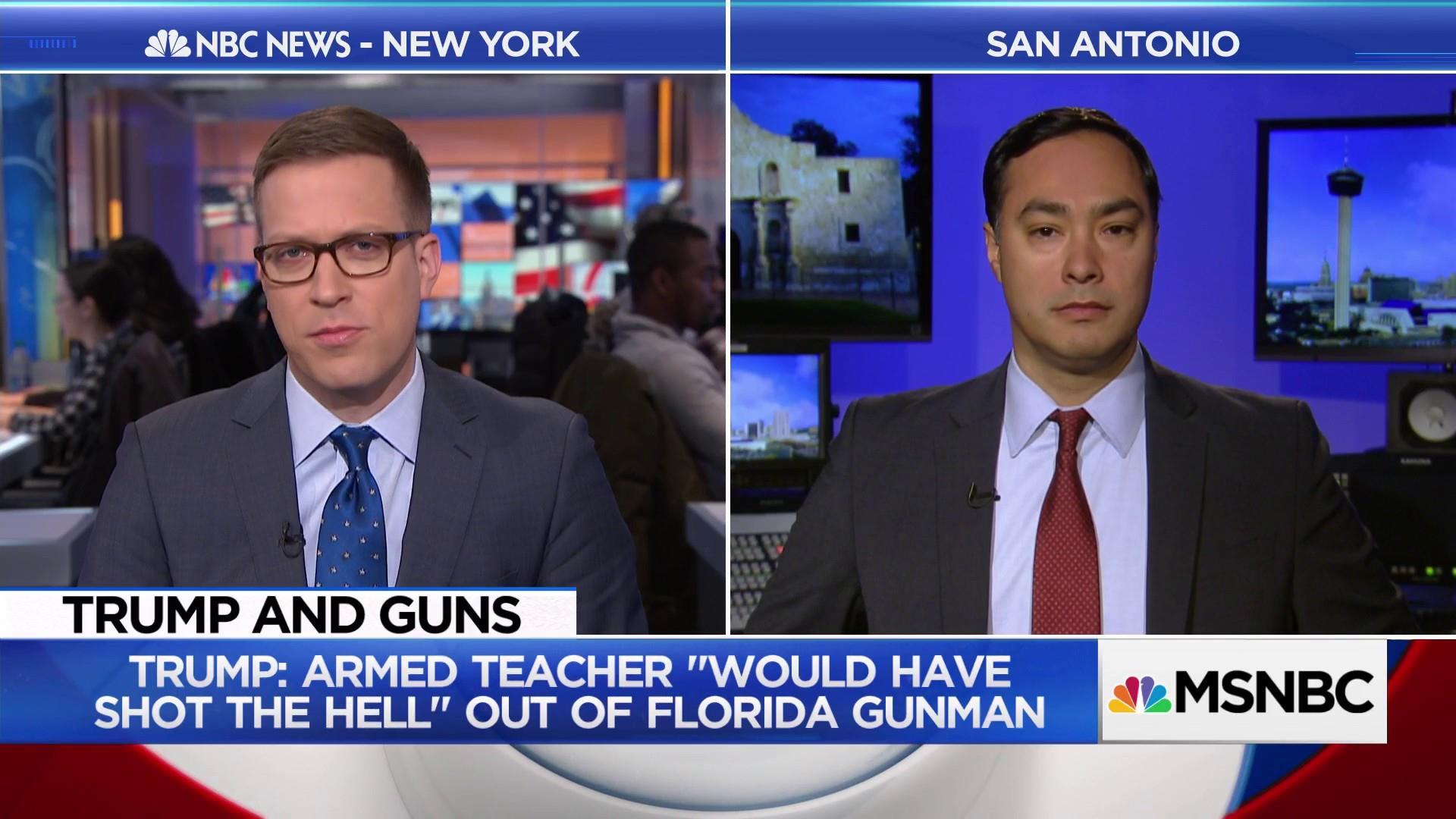 Rep. Joaquin Castro Speaks Out Against Trump's Proposal to Arm Teachers