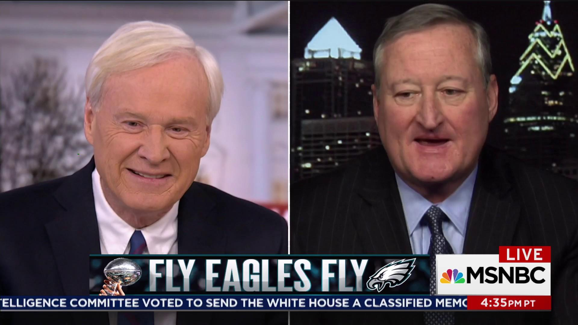 Mayor Kenney: 'How 'Bout Our Eagles!'