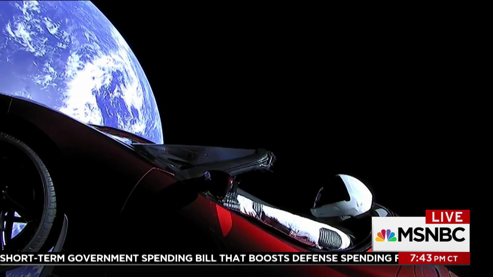 SpaceX launches Tesla sports car into sun's orbit