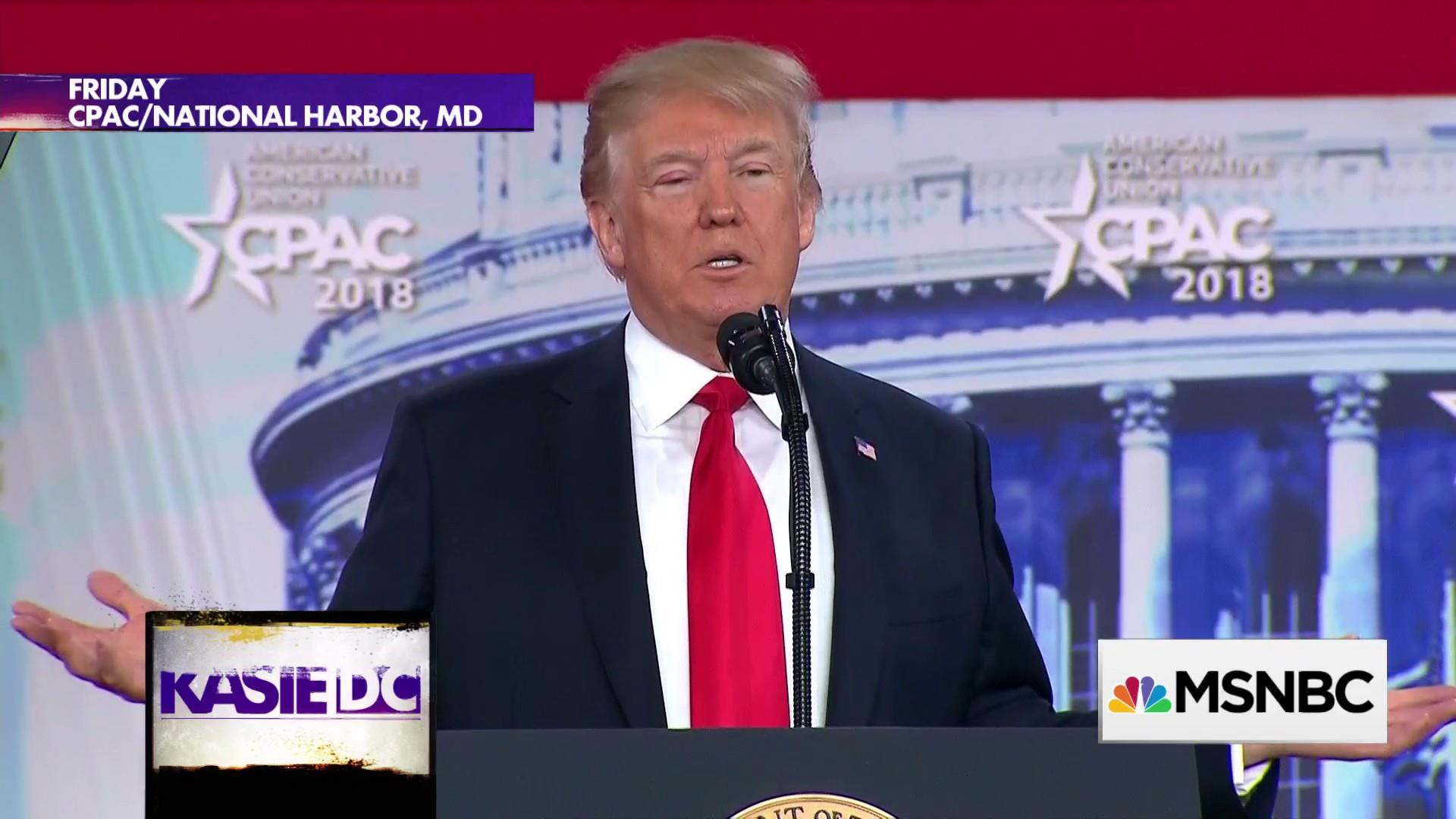 Trump covers just about everything in his CPAC speech