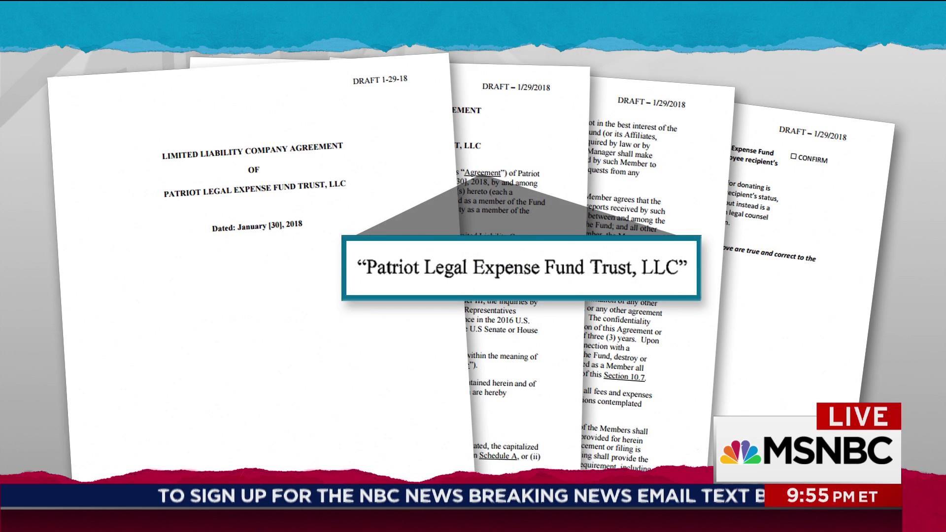 Apparent Trump legal defense fund uncovered