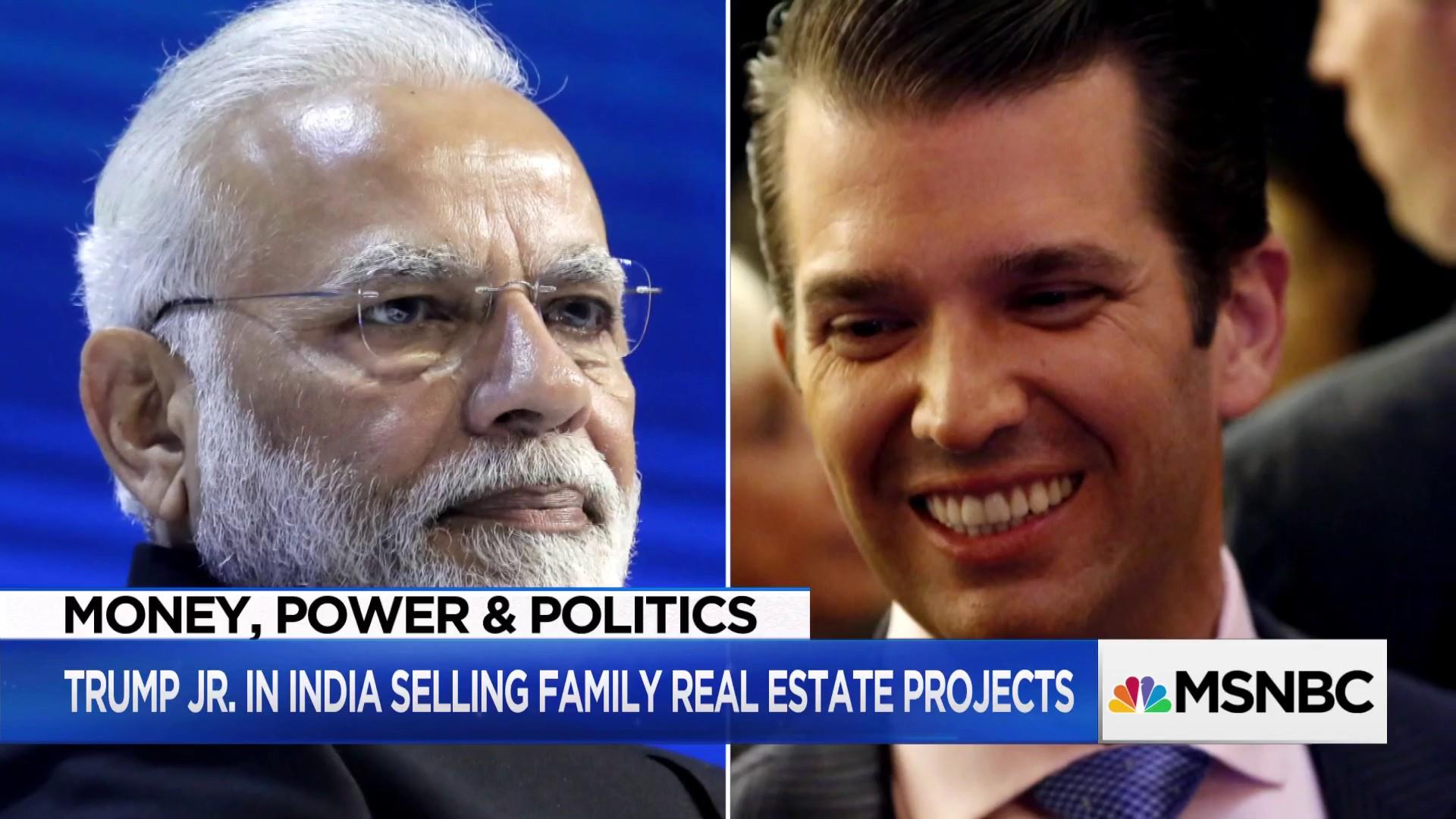 """Trump Jr. to give policy speech during India """"business trip"""""""