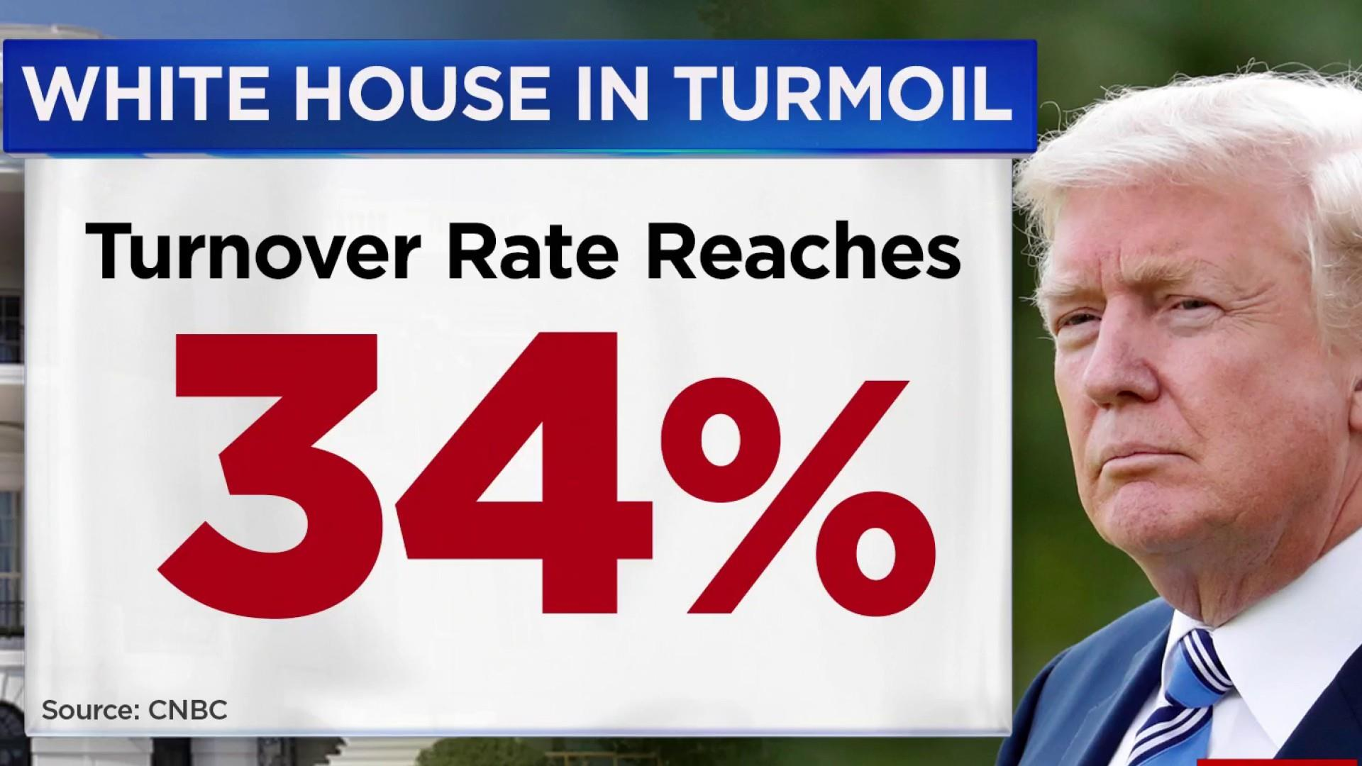 White House is having a high turnover rate