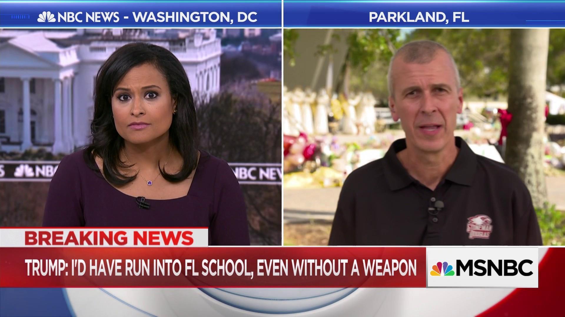 Parkland teacher responds to Trump's idea