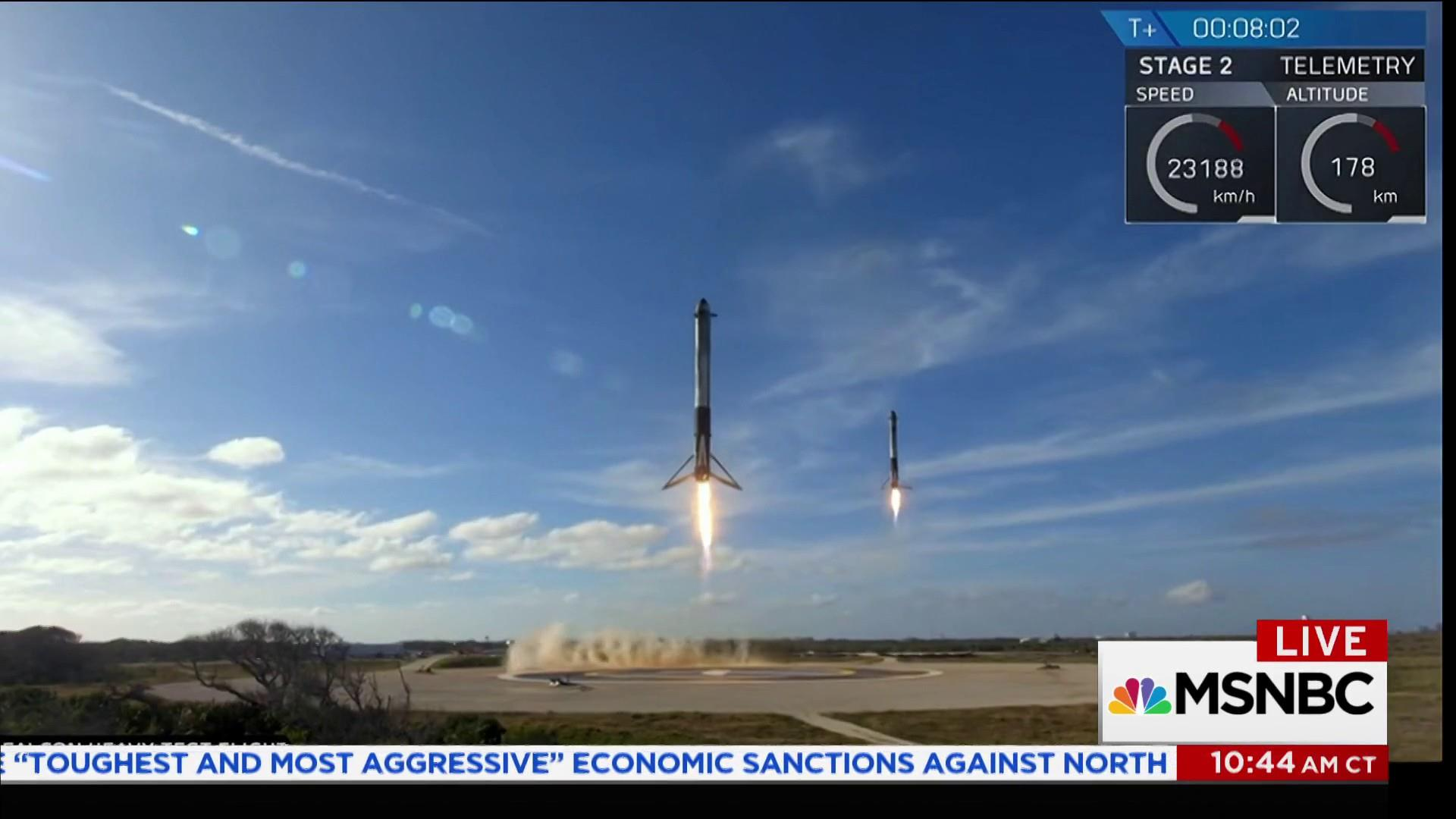 Astronauts react to SpaceX rocket launch toward Mars