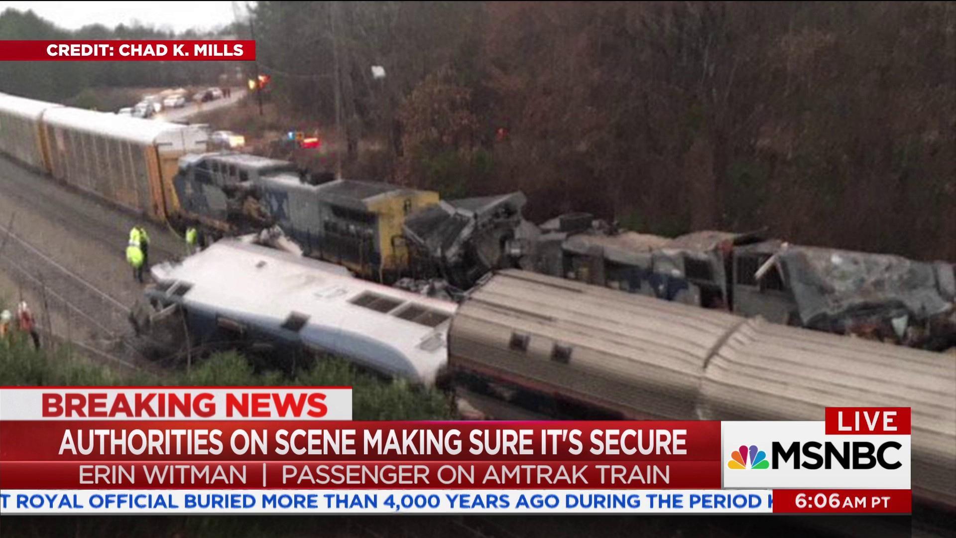 Amtrak passenger recounts terrifying crash in Cayce, SC