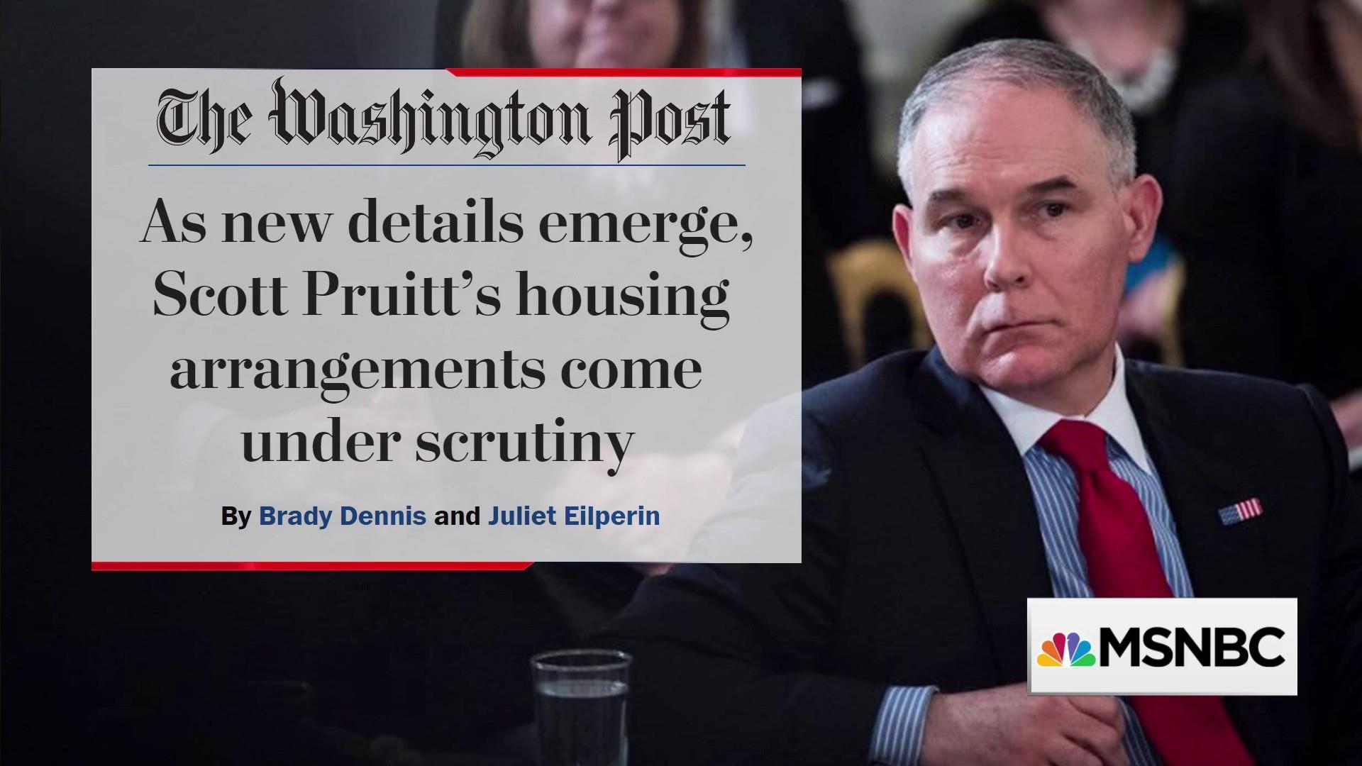 Trump's EPA head Scott Pruitt faces new housing scandal