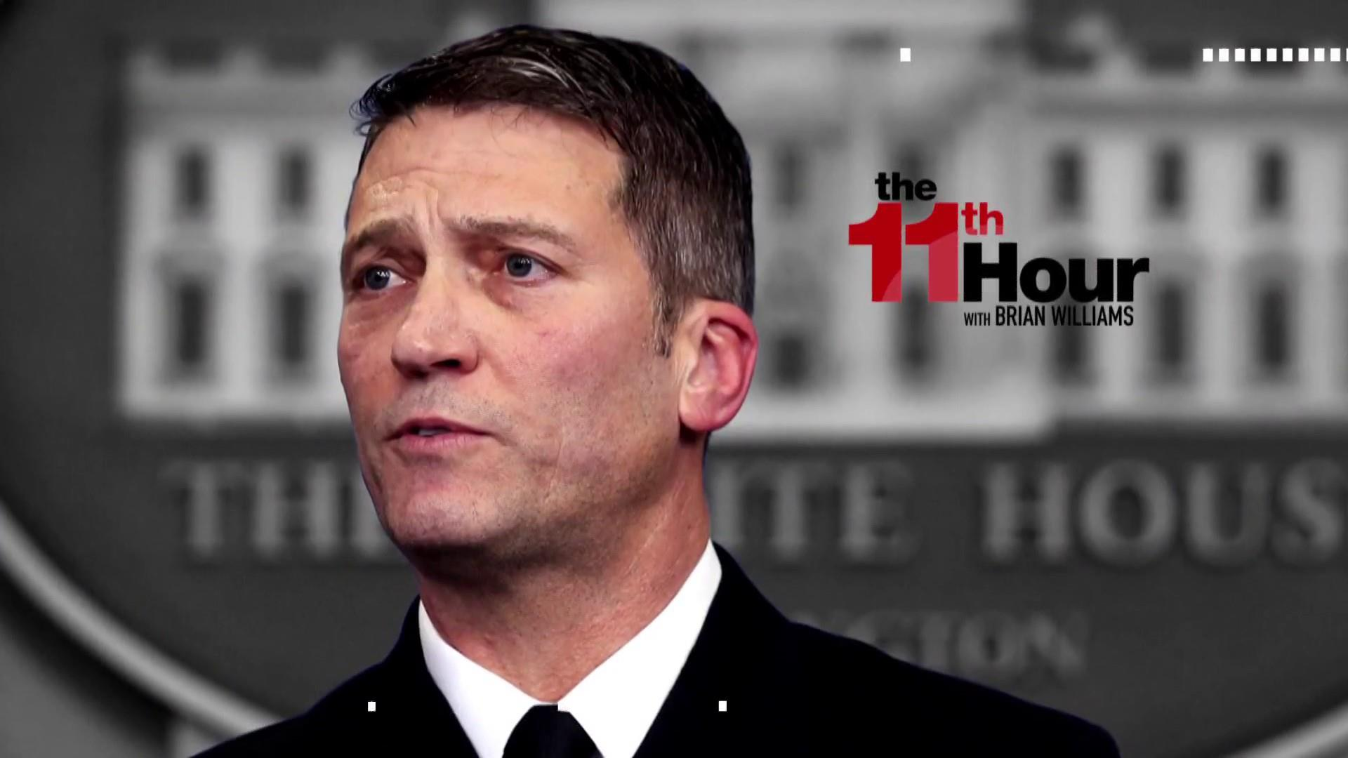 Who is Trump's pick to head Veterans Affairs Ronny Jackson?