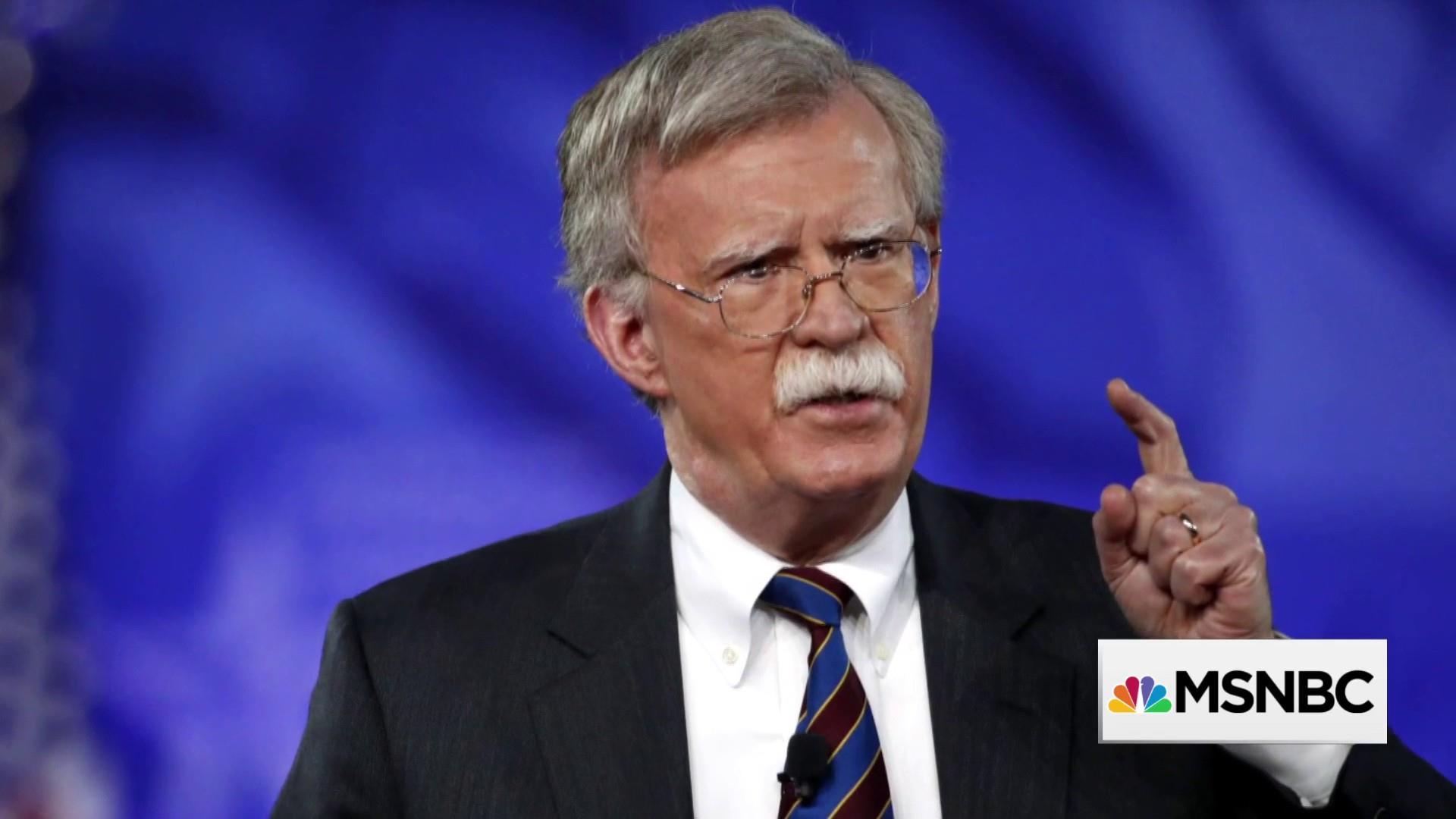 National Security Advisor Bolton compared to 'Yosemite Sam'