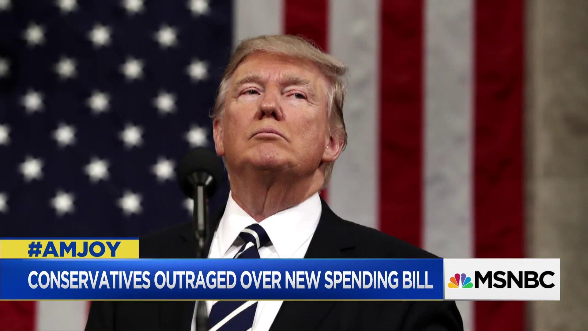 Trump signs spending bill sparking right-wing media backlash
