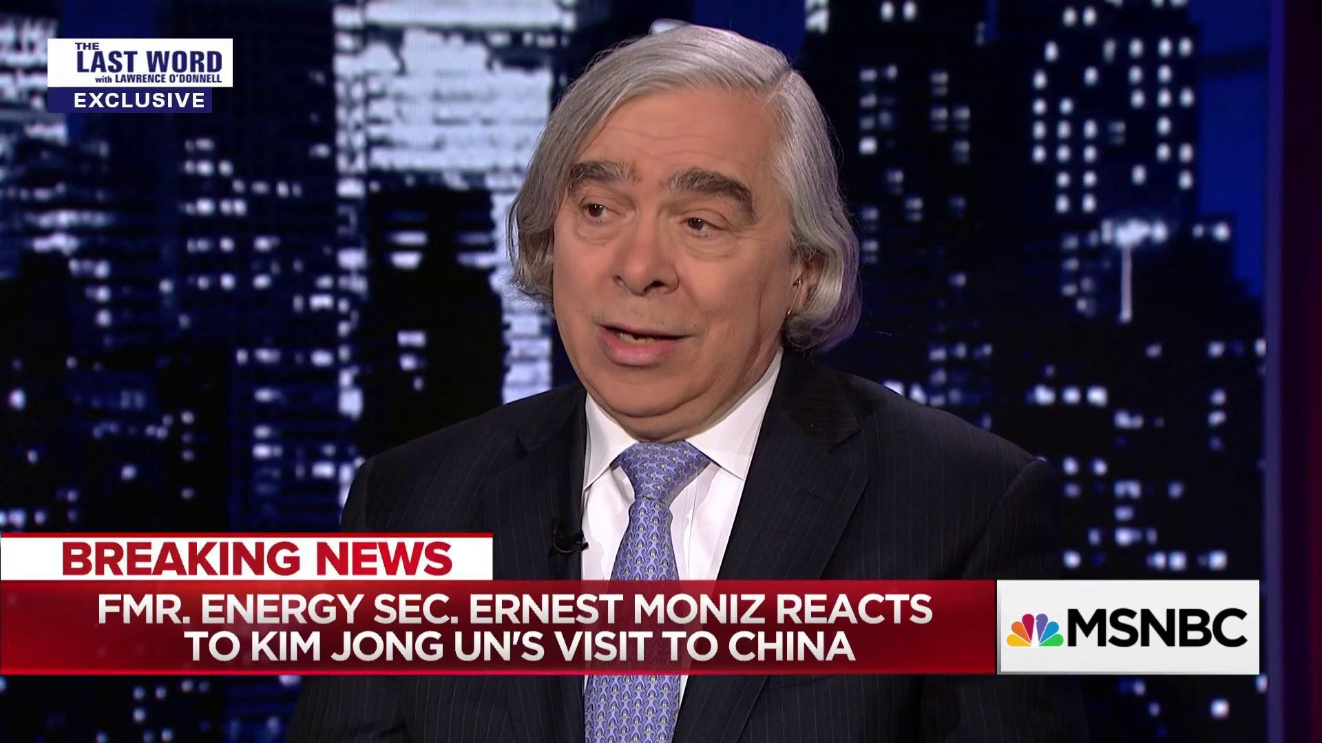 Obama Energy Sec. Moniz reacts to North Korea-China meeting