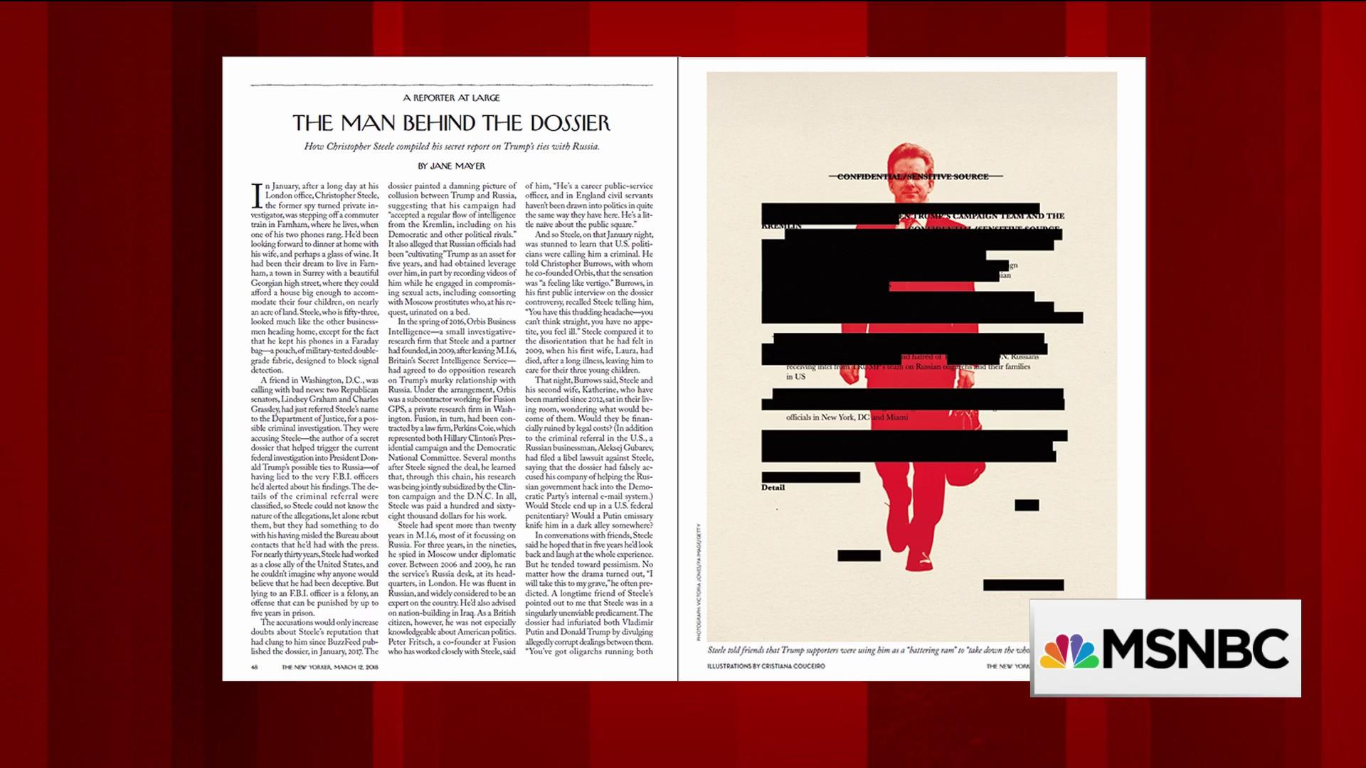 New Yorker digs into the man behind the dossier