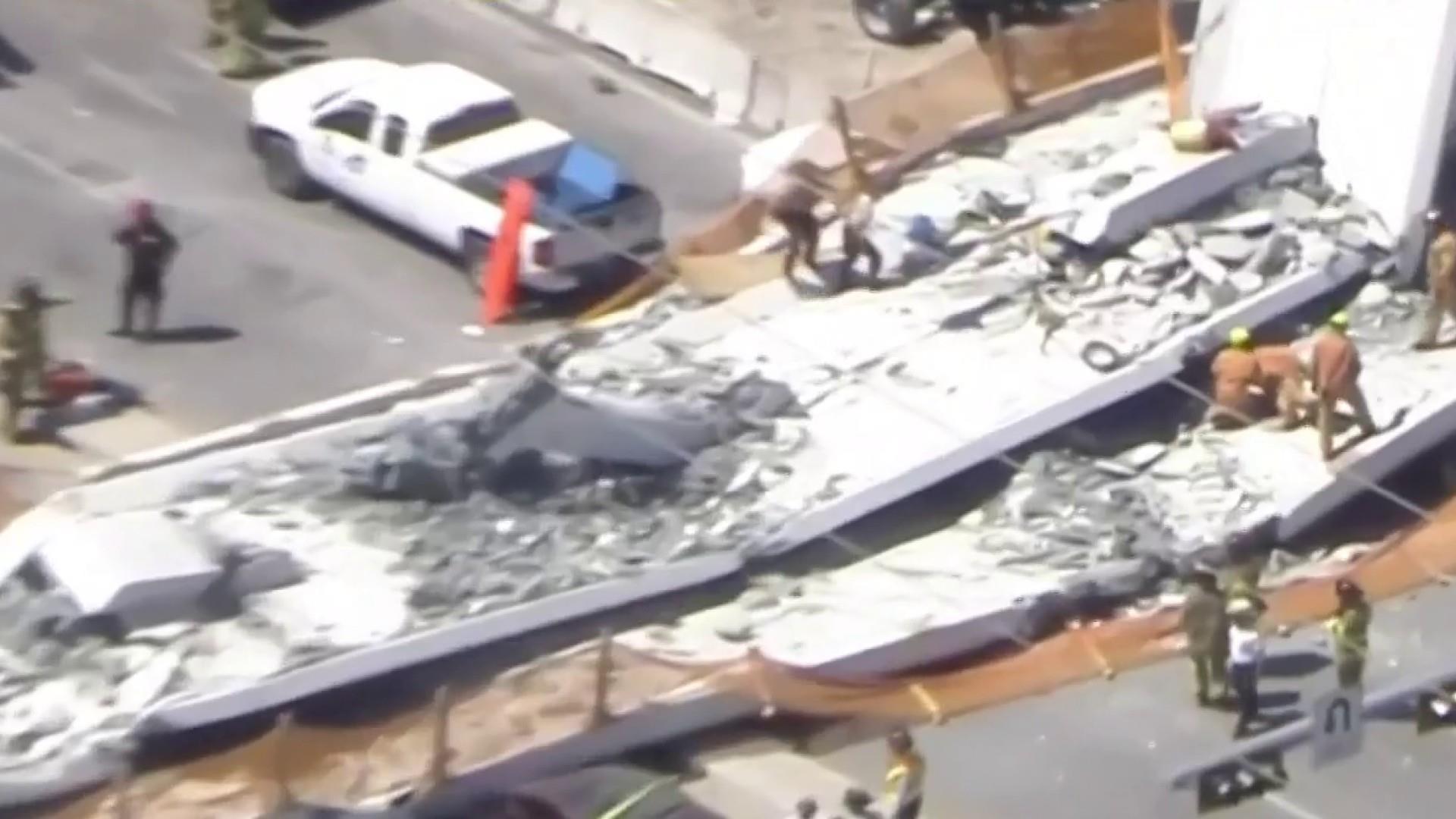 Pedestrian bridge collapses in Florida