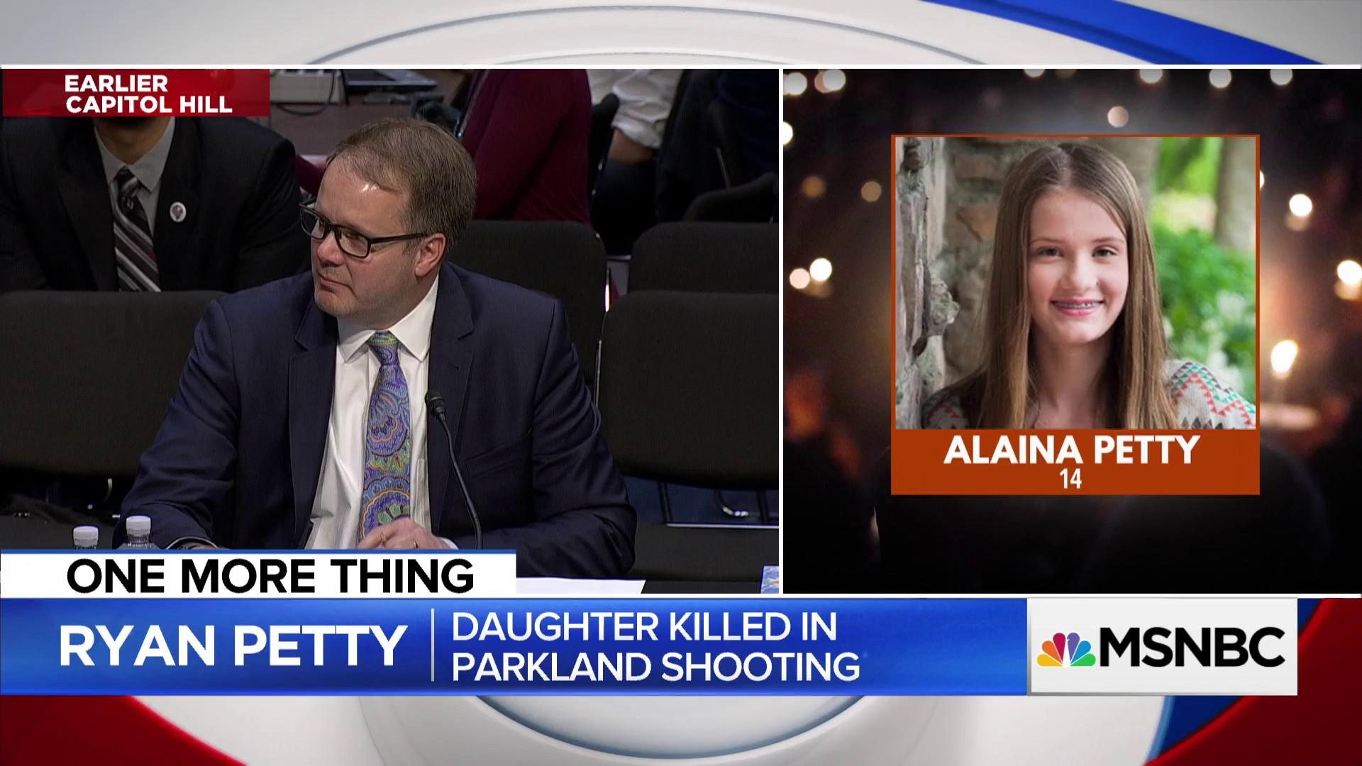 Parkland father's emotional plea on the hill