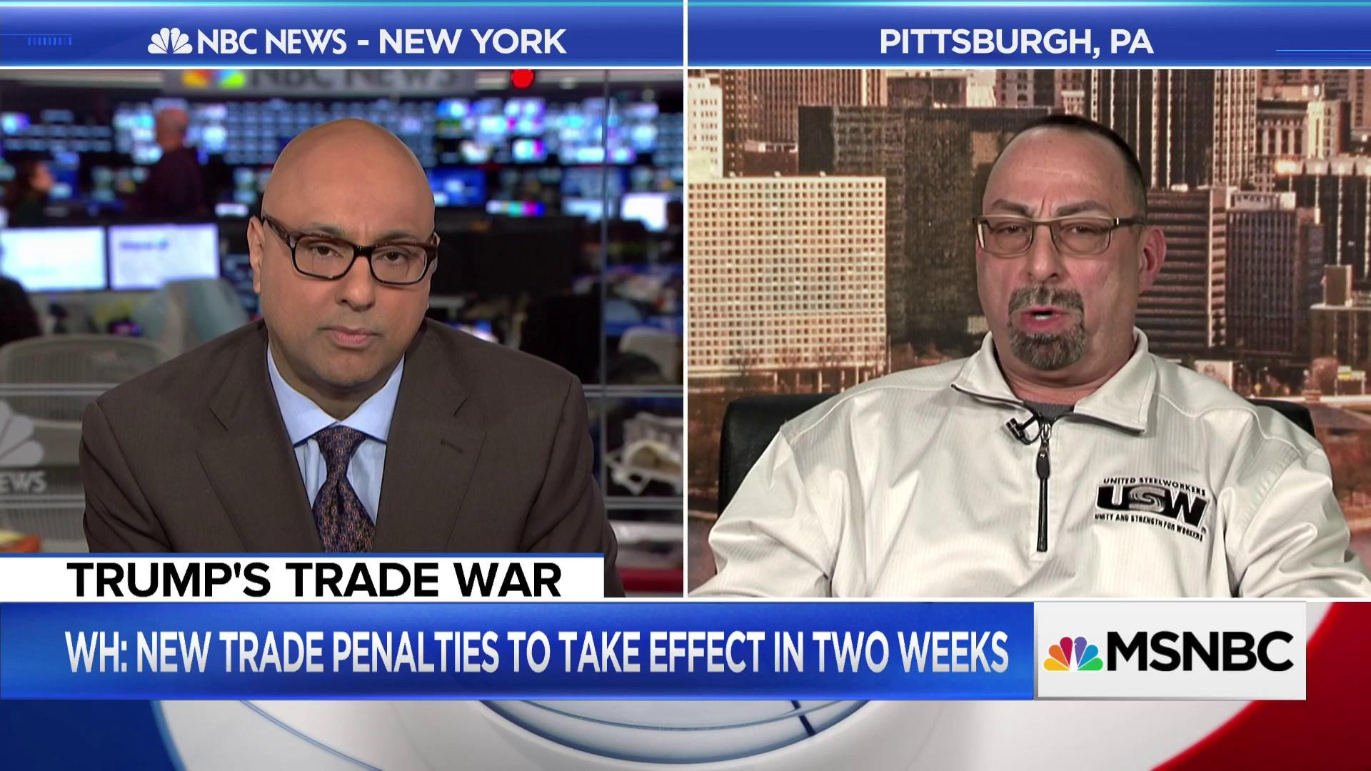 Steel worker on tariffs and the demand for American steel