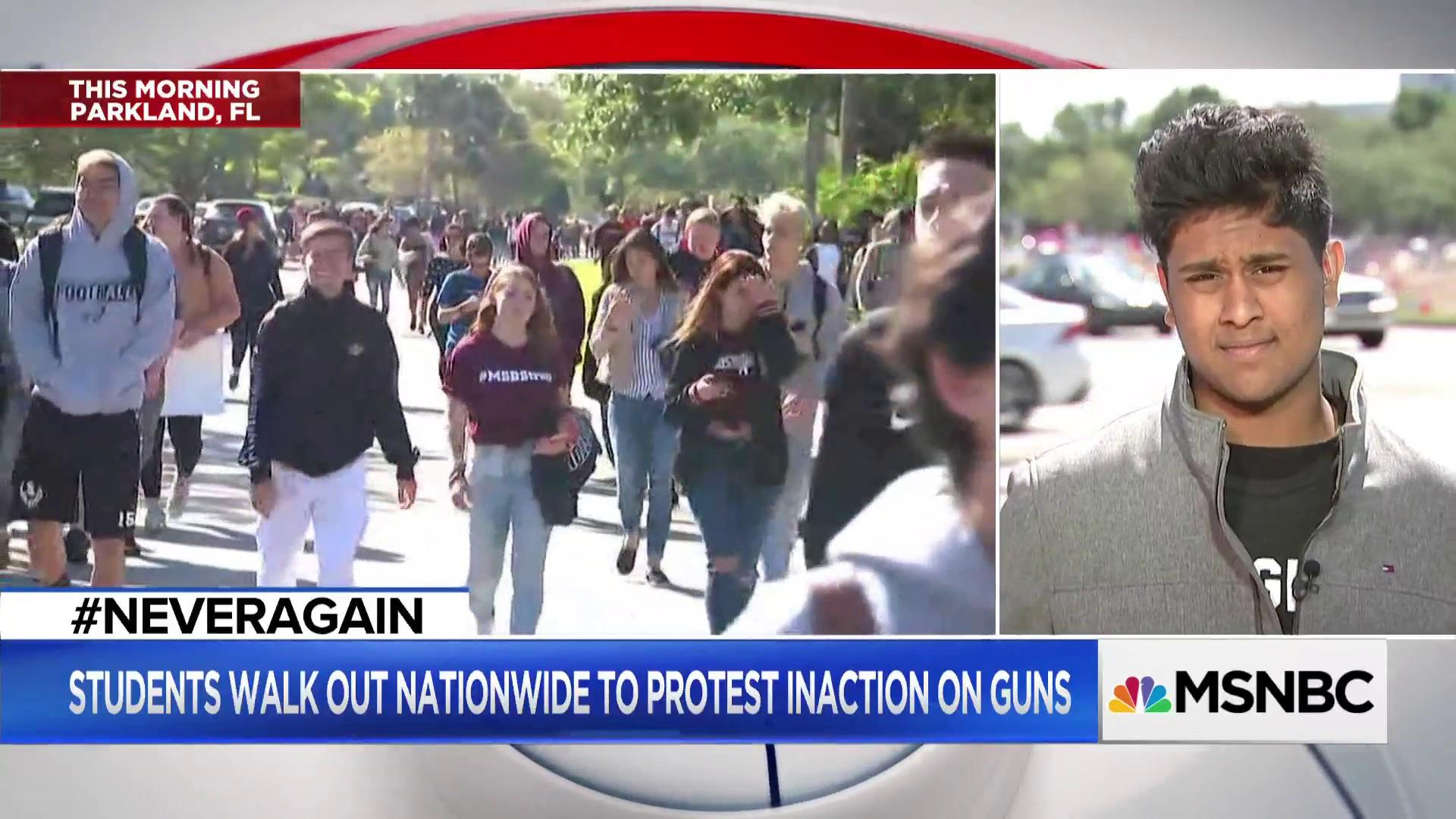 Parkland survivors lead the way in walk out