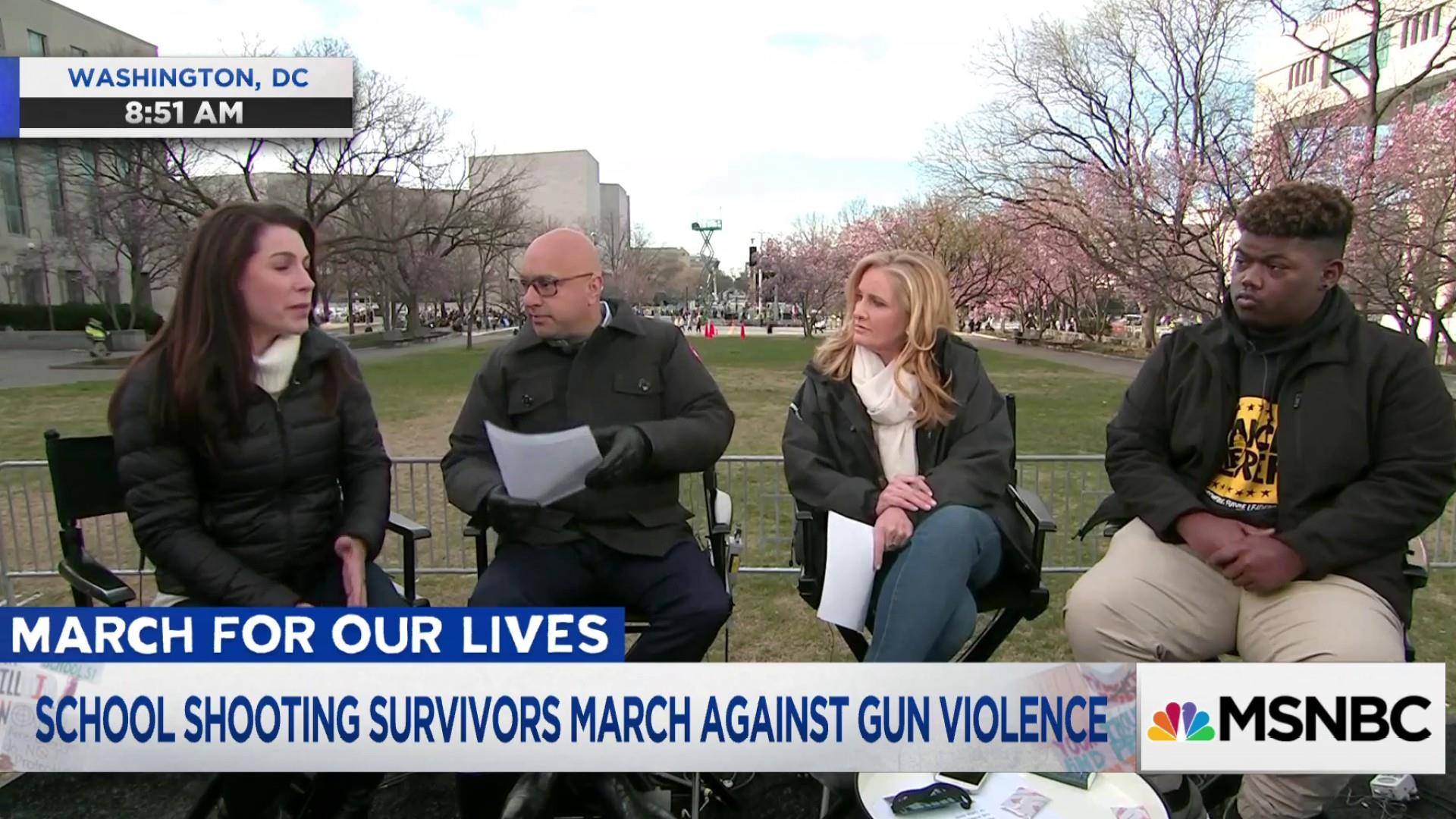 Parkland shooting survivor: 'With everybody's voice I think we're going to a change'