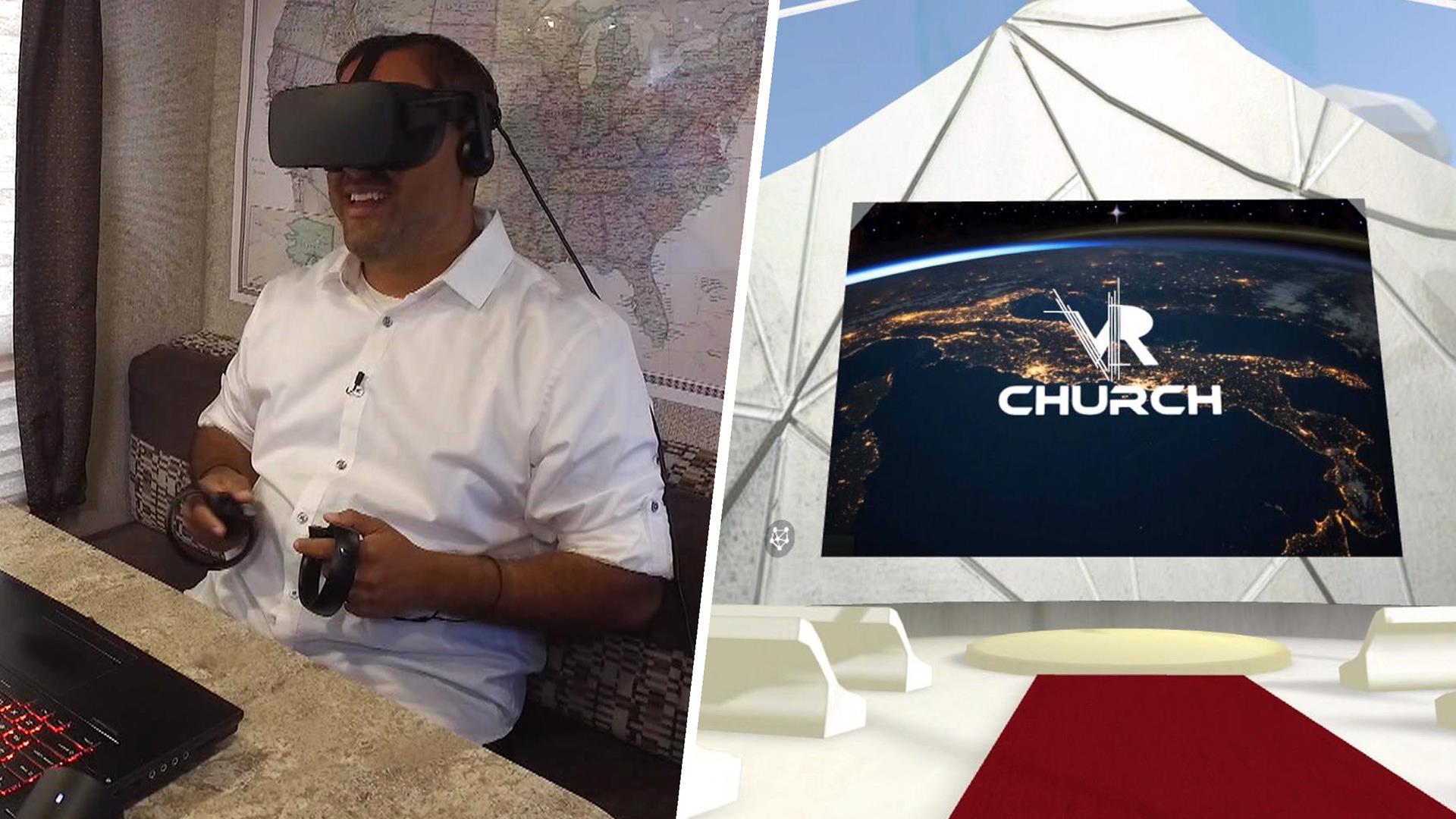 Take a look inside one pastor's virtual reality church