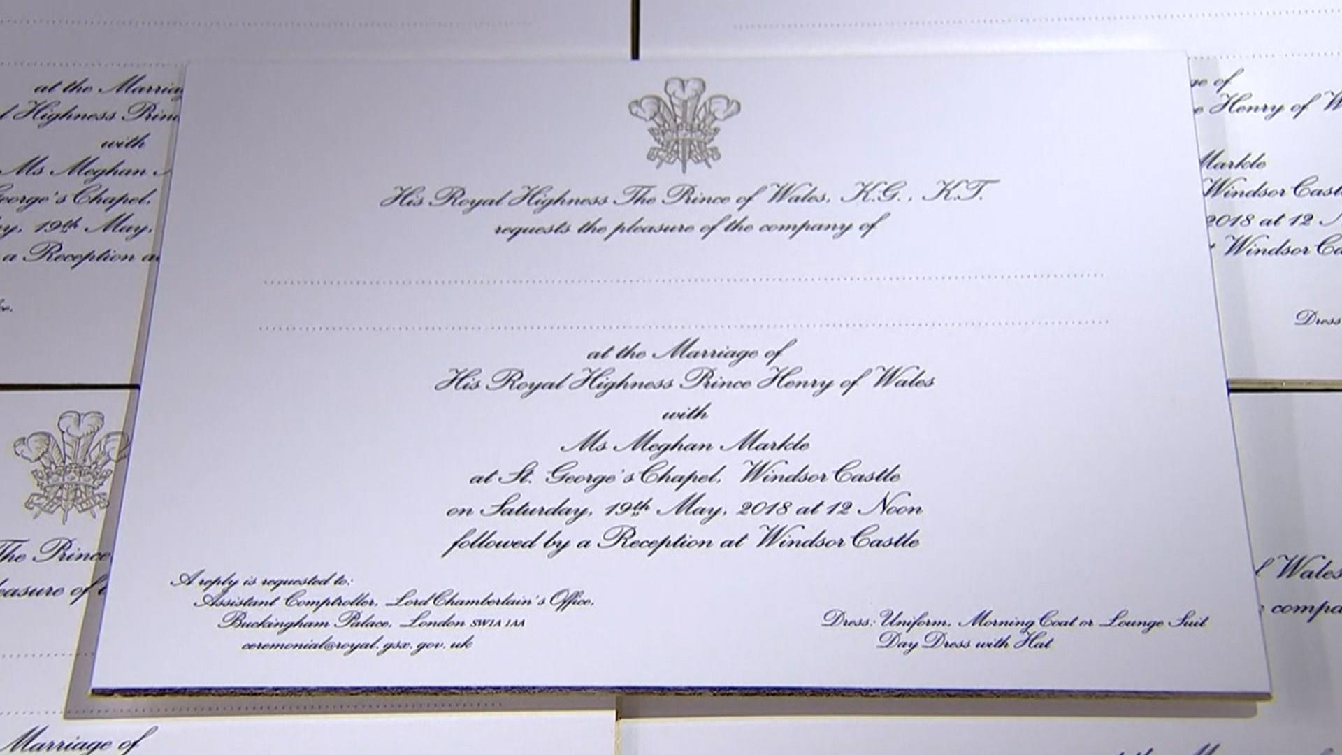 see prince harry and meghan markle s wedding invitations see prince harry and meghan markle s