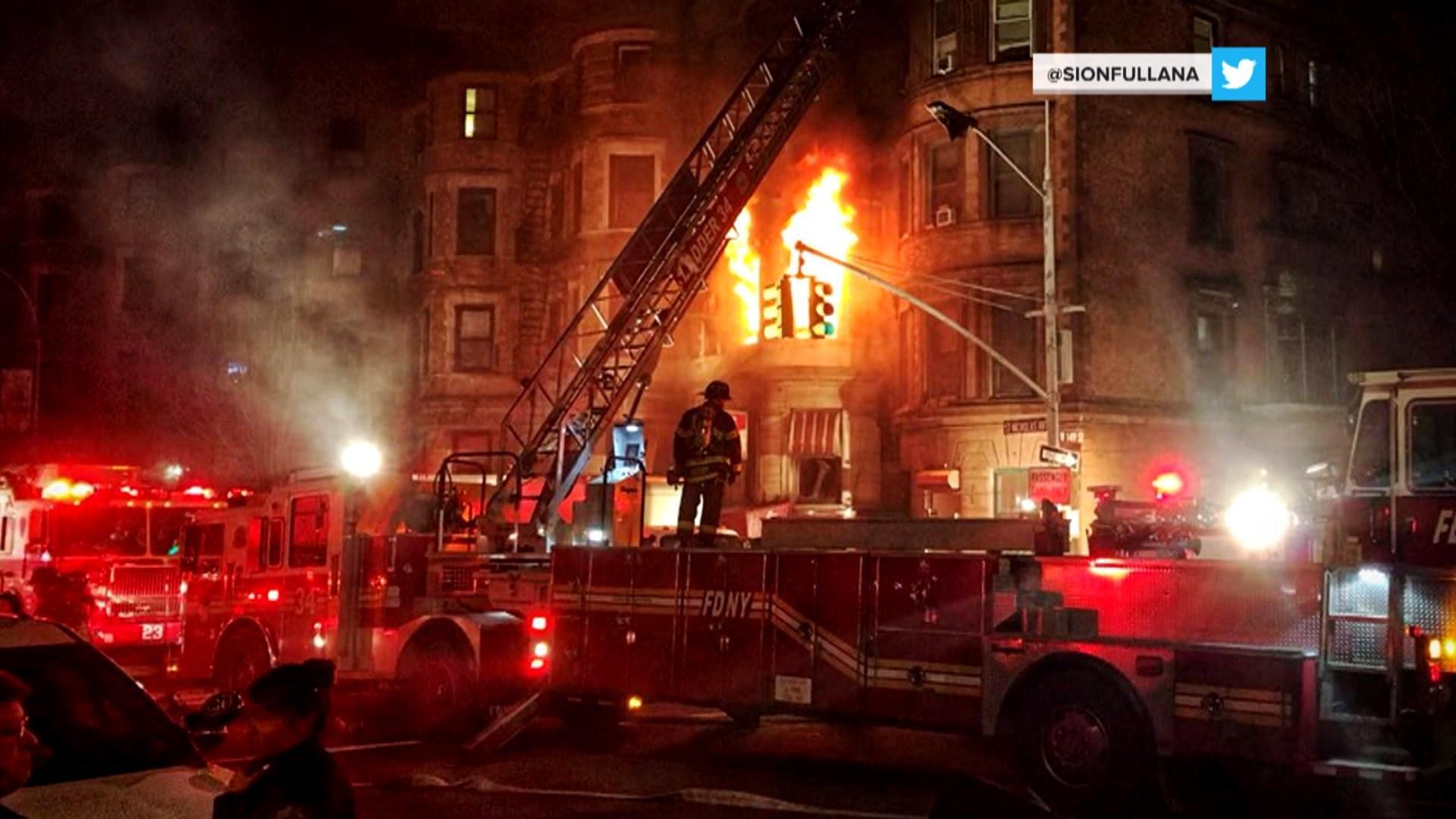 Firefighter dies in New York film set fire