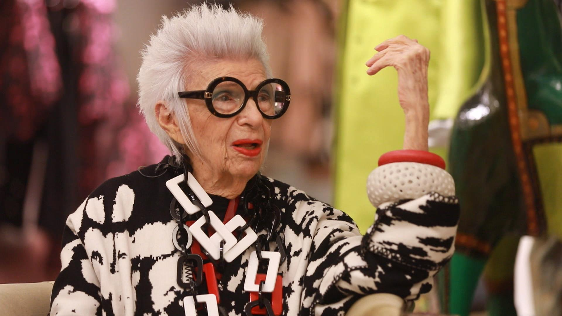 96 Year Old Fashion Icon Iris Apfel Ripped Jeans Are